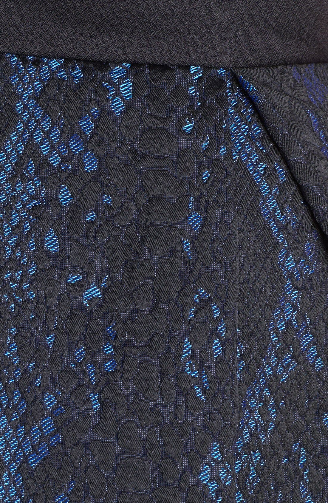 Alternate Image 3  - ABS by Allen Schwartz Python Jacquard Cocktail Dress (Plus Size)