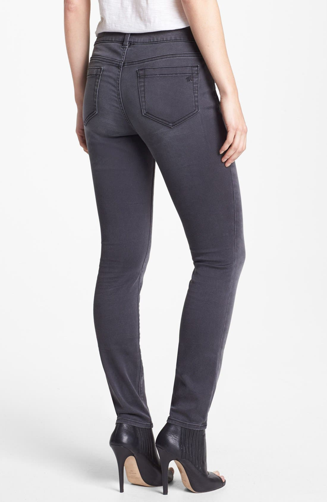 Alternate Image 2  - Two by Vince Camuto 'Stone' Stretch Skinny Jeans (Dark Stone)