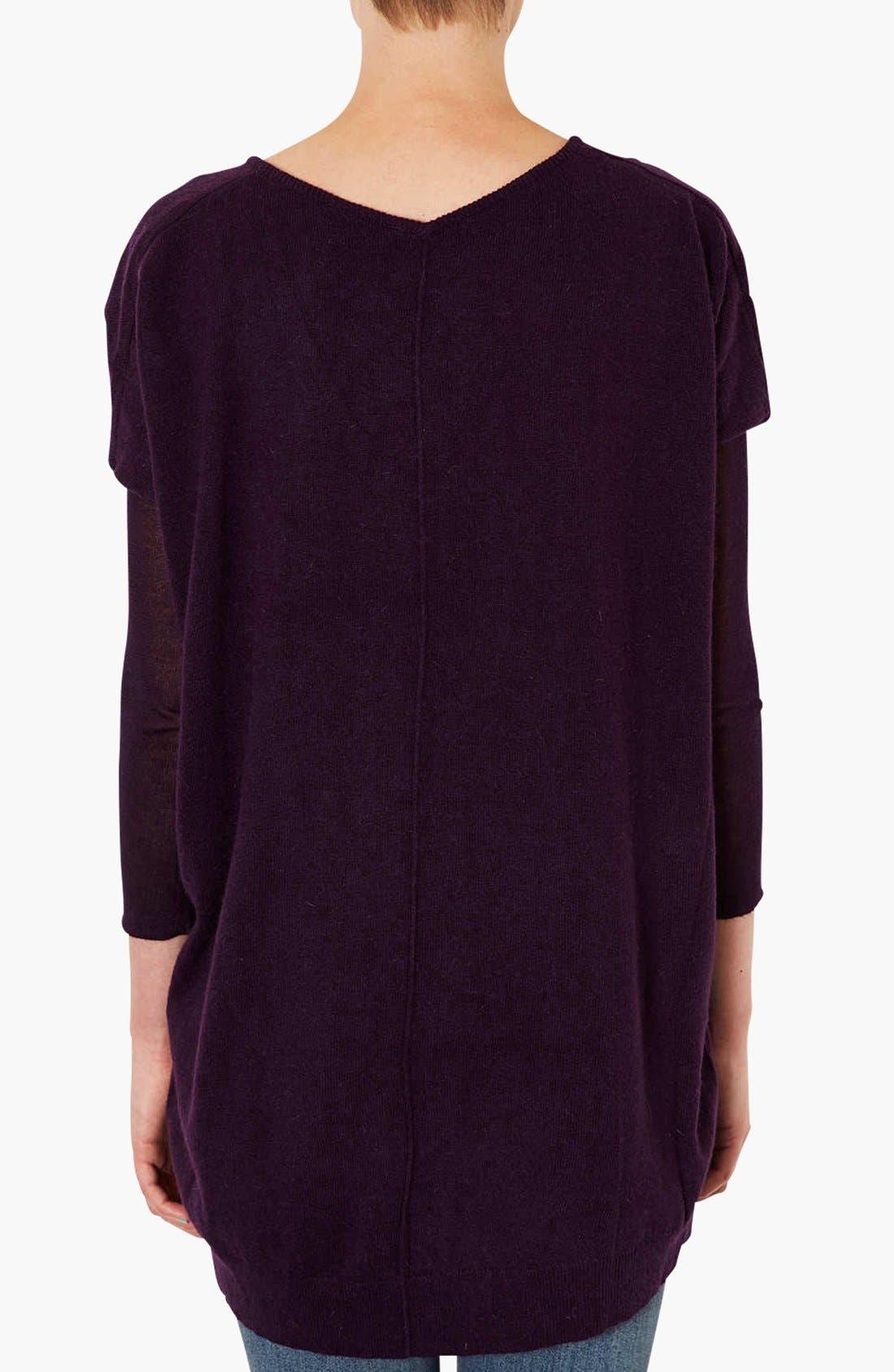 Alternate Image 2  - Topshop Lightweight V-Neck Sweater
