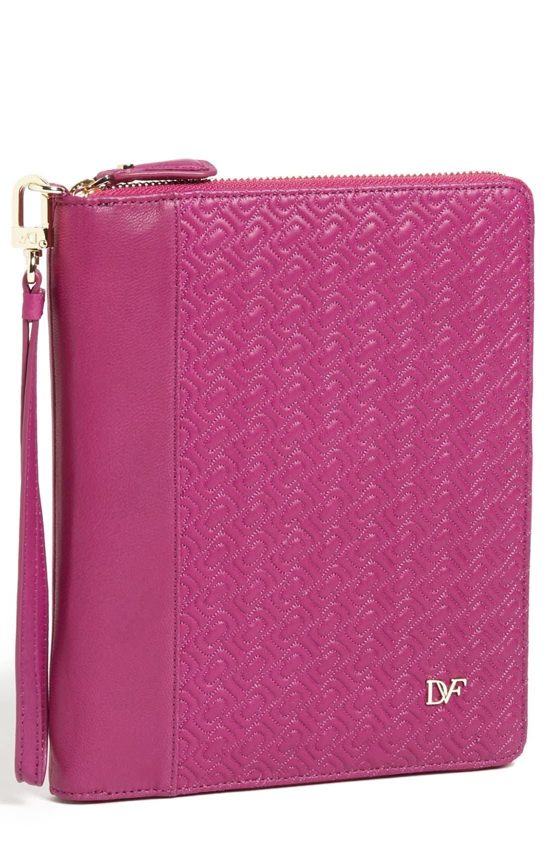 Alternate Image 1 Selected - Diane von Furstenberg 'Chain Link' Quilted iPad Mini Case