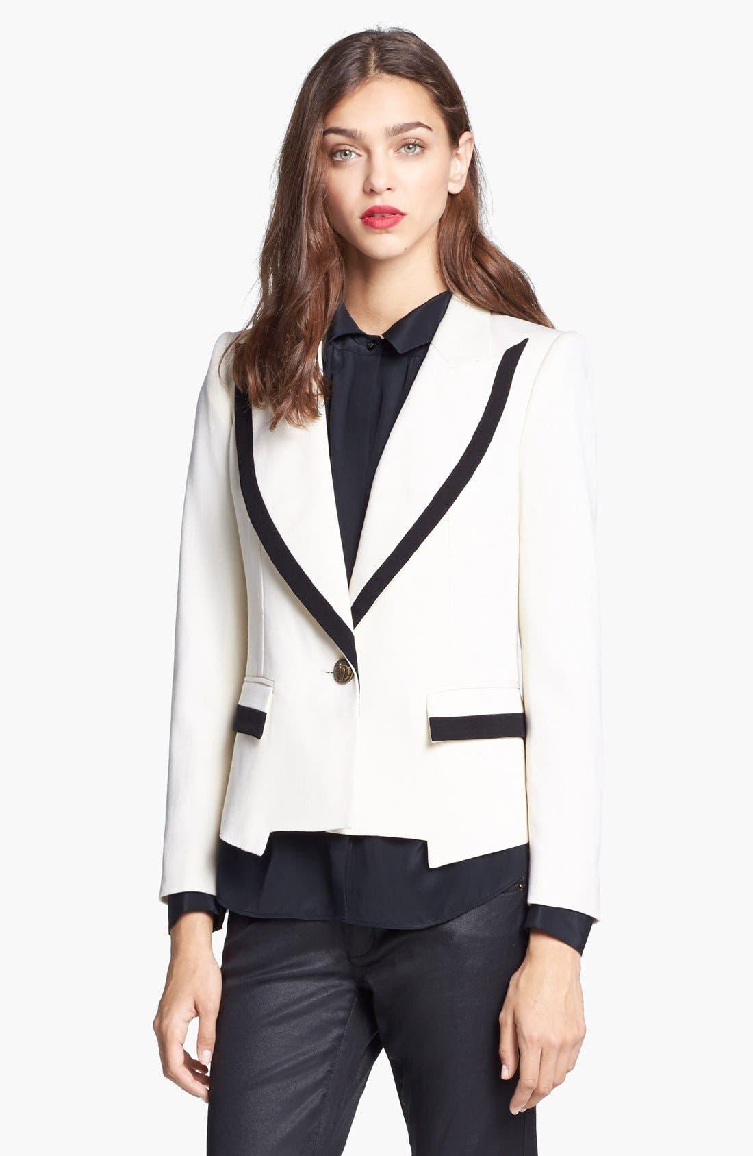 Alternate Image 1 Selected - Rachel Zoe 'Foster' Peak Lapel Single Button Jacket