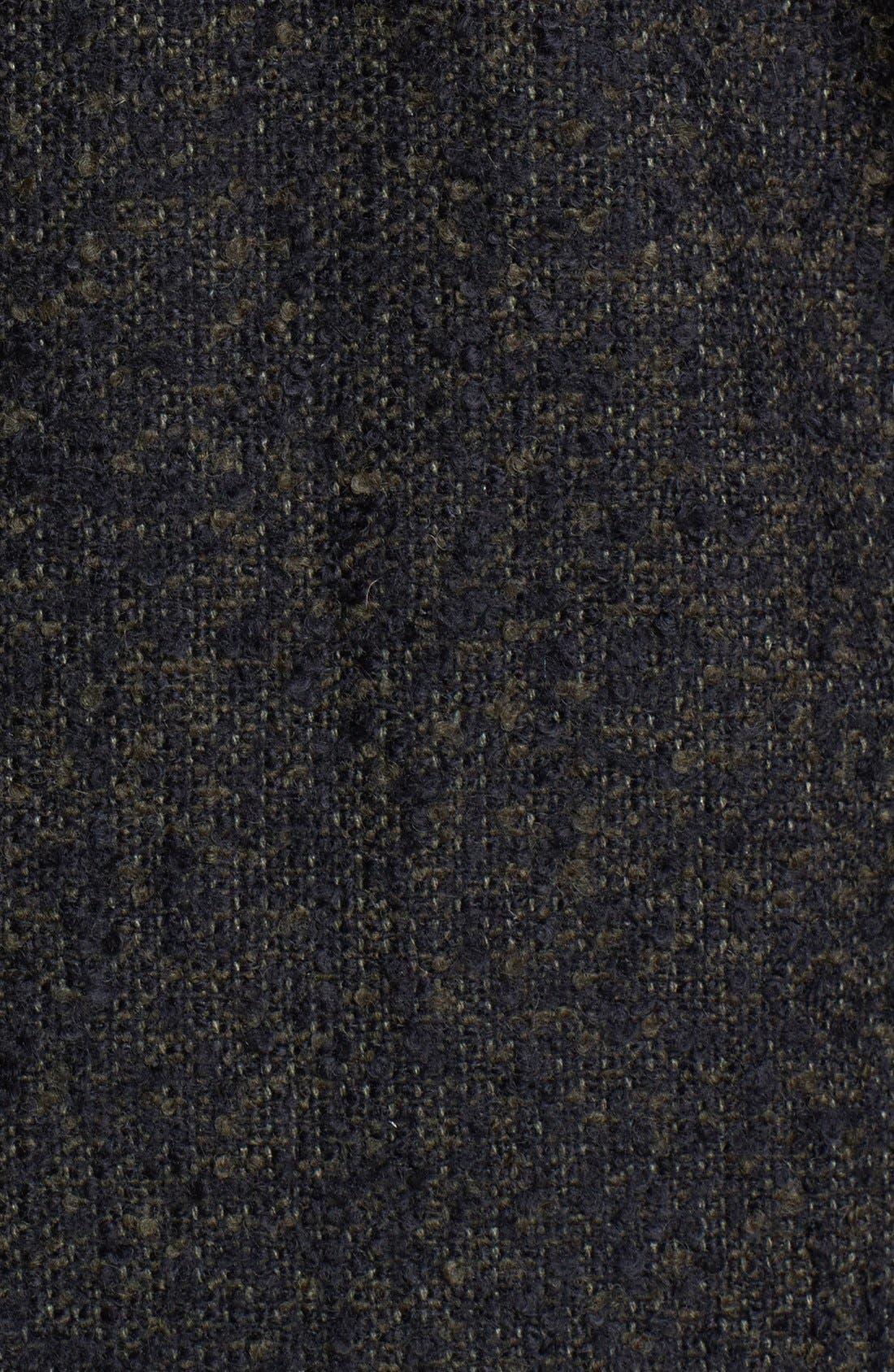 Alternate Image 3  - Vince Camuto Faux Leather Sleeve Bouclé Tweed Coat (Plus Size)