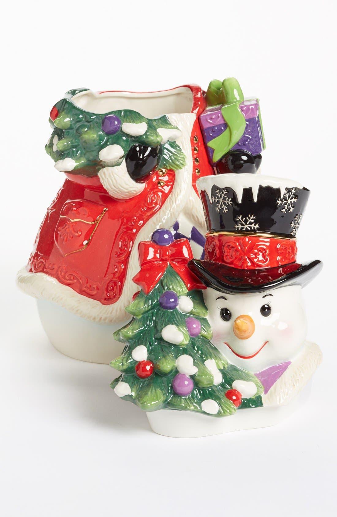 Alternate Image 2  - Christopher Radko 'Stately Snowman' Cookie Jar