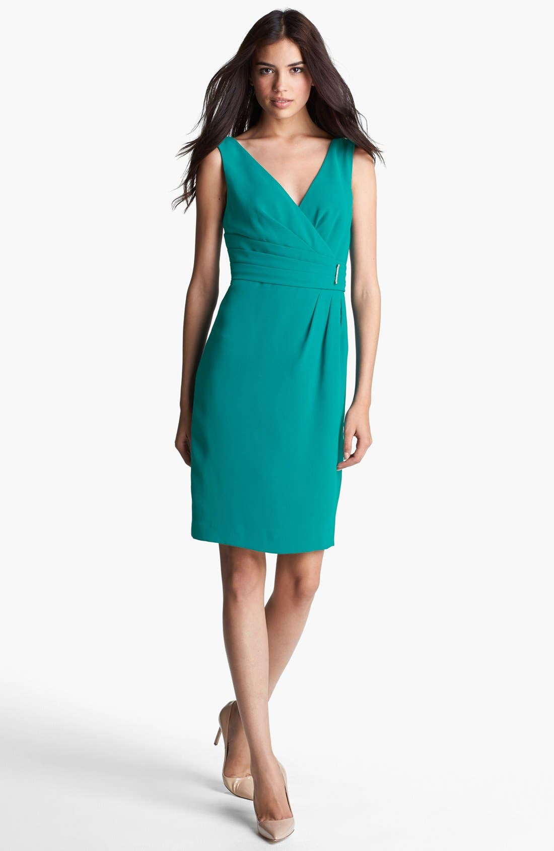Main Image - Ivanka Trump Side Embellished Sheath Dress