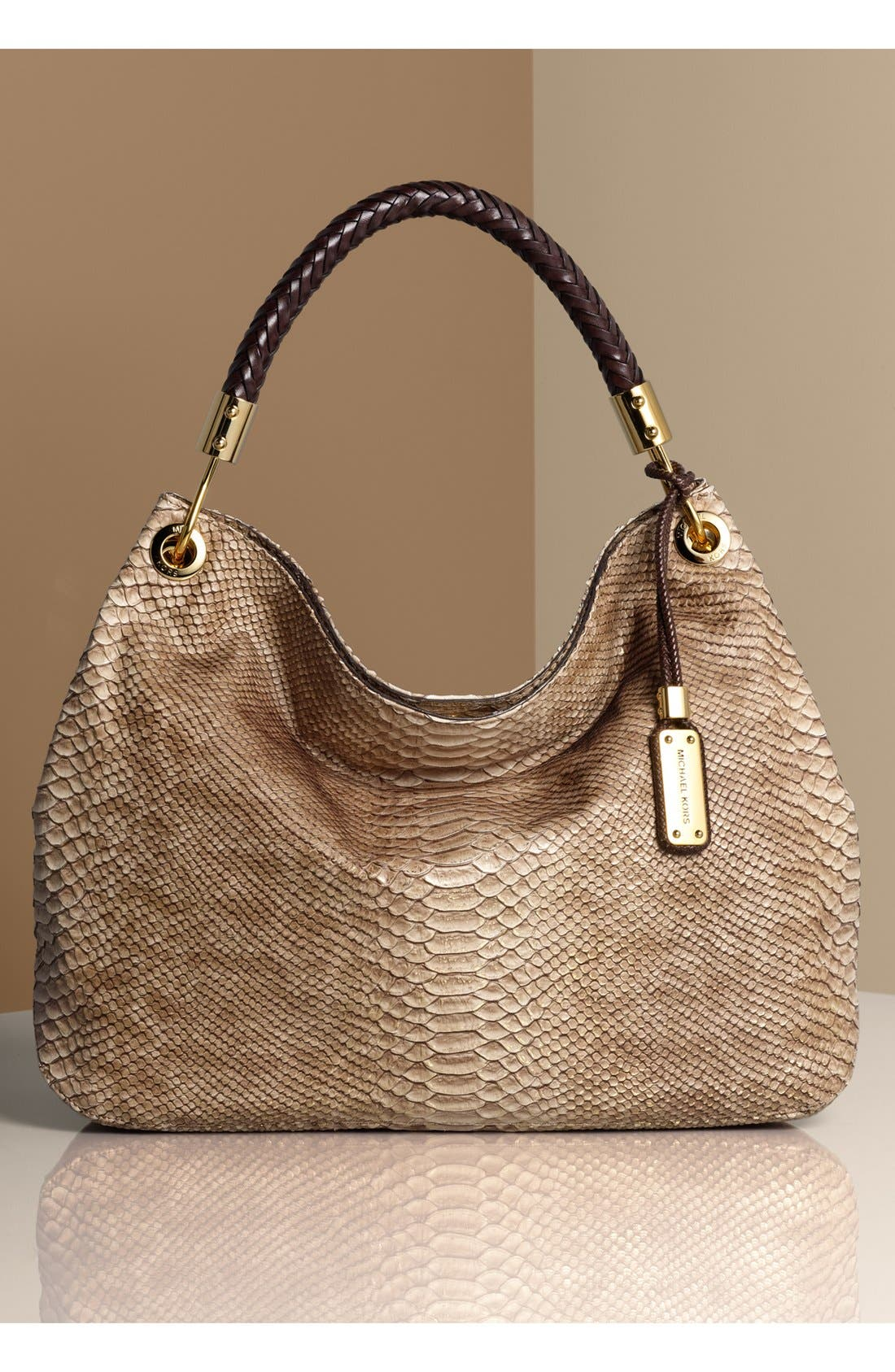 Alternate Image 5  - Michael Kors 'Skorpios' Python Print Shoulder Bag