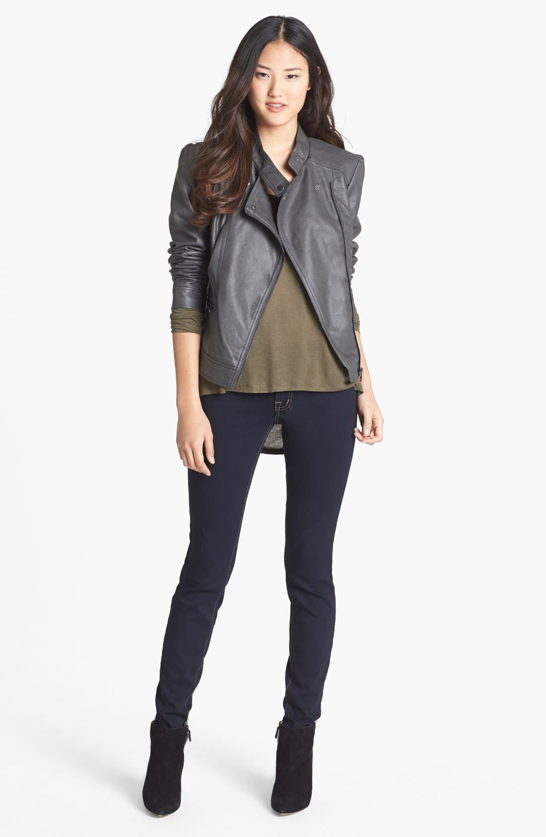 Alternate Image 5  - Jessica Simpson 'Trey' Faux Leather Moto Jacket