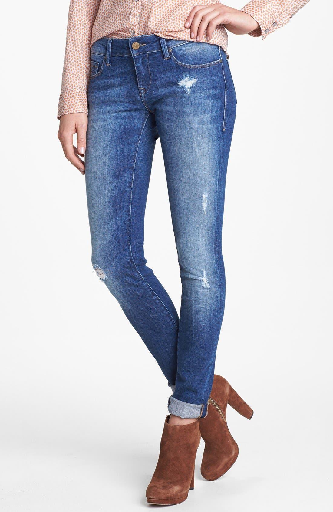 Main Image - Mavi Jeans 'Serena' Super Skinny Jeans (Indigo Vintage)