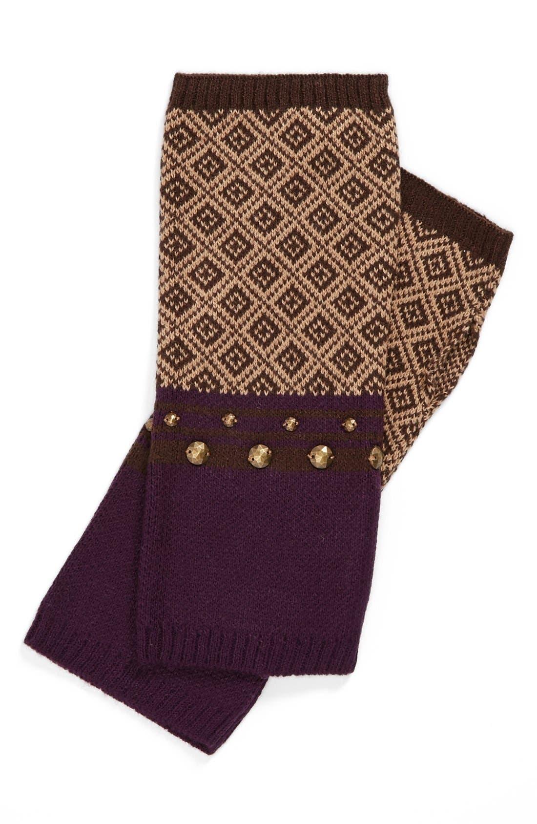Alternate Image 1 Selected - Echo 'Geo' Studded Fingerless Gloves