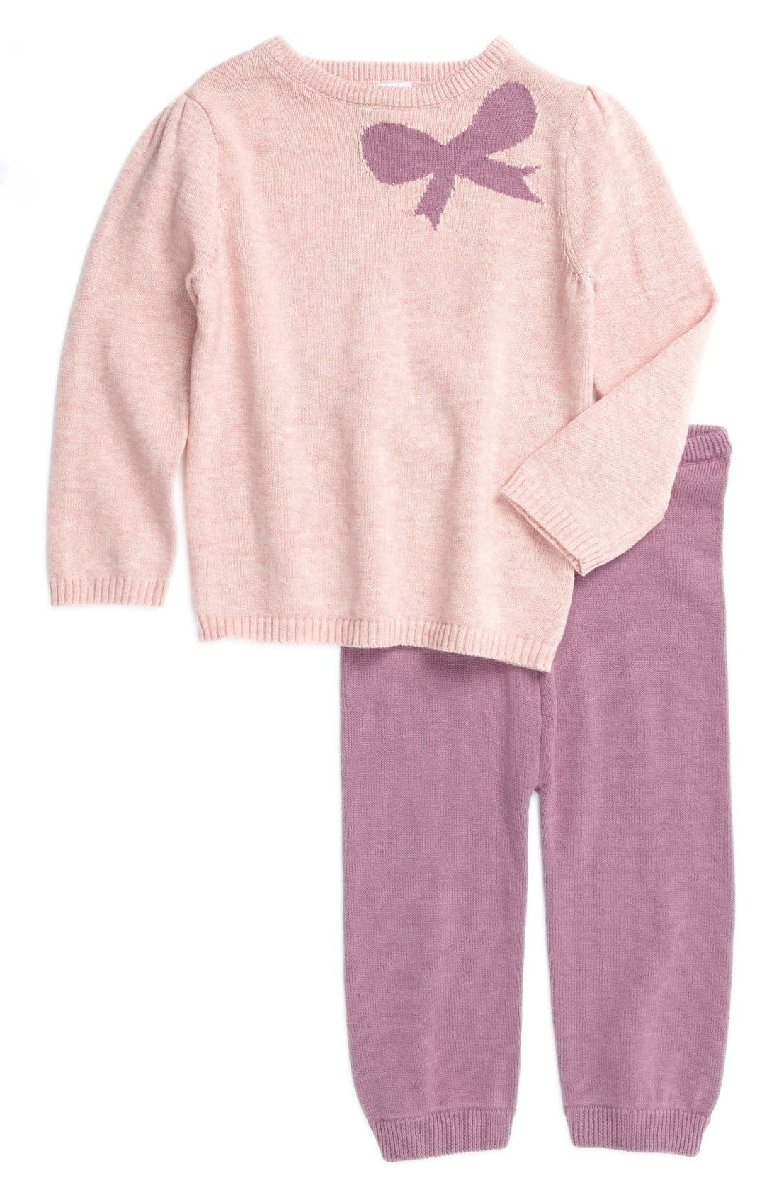 Alternate Image 1 Selected - egg by susan lazar Sweater & Pants (Baby Girls)