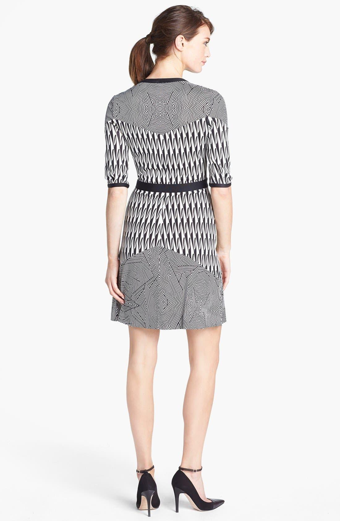 Alternate Image 2  - Diane von Furstenberg 'Fiona' Button Front Knit Silk Dress