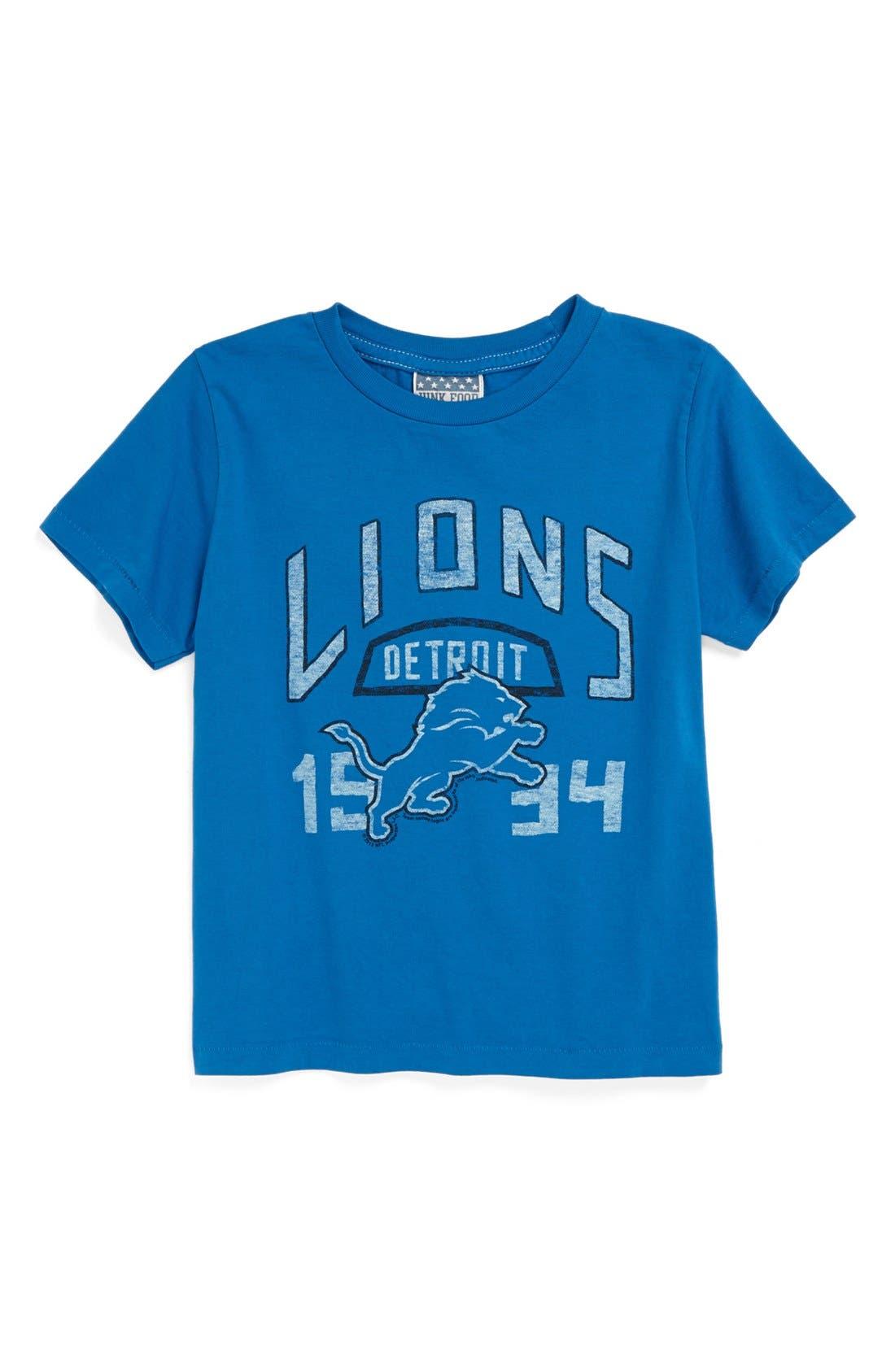 Alternate Image 1 Selected - Junk Food 'Detroit Lions' T-Shirt (Toddler Boys)