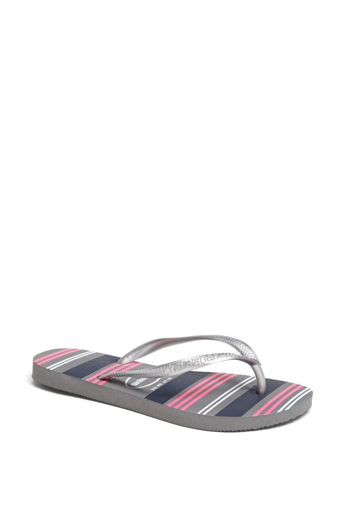 Alternate Image 1 Selected - Havaianas 'Slim - Neon Stripes' Sandal