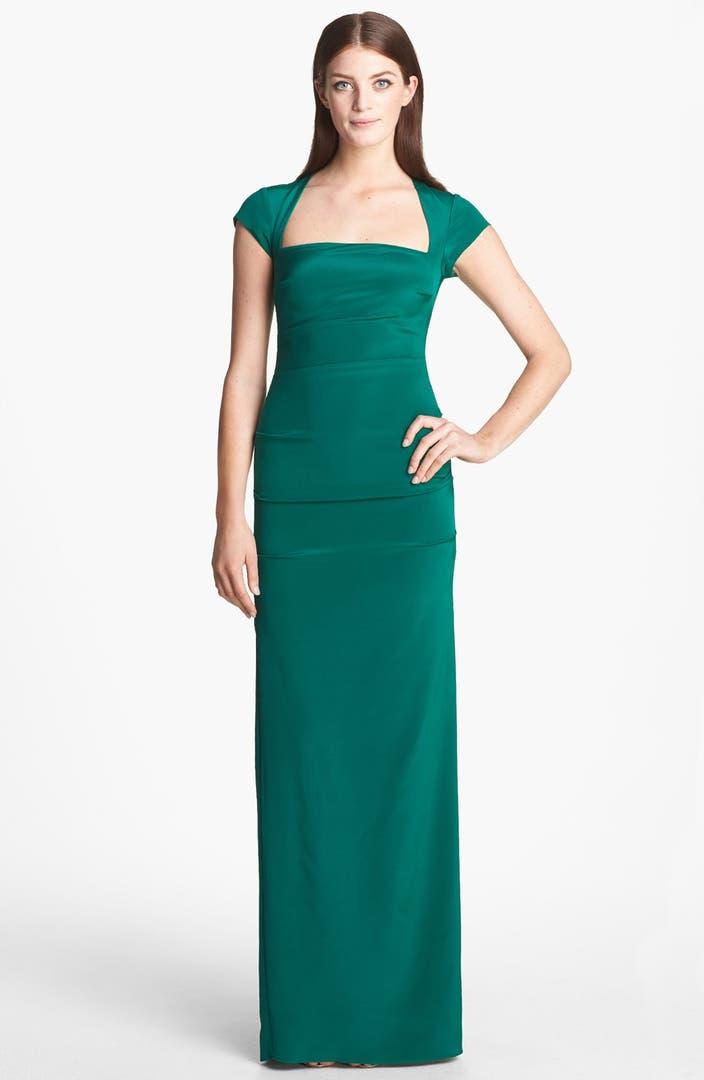 Nicole Miller 'Felicity' Stretch Silk Gown | Nordstrom
