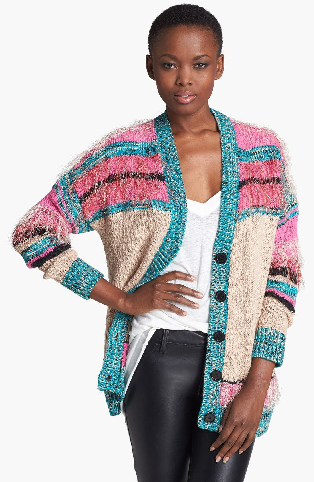 Main Image - MINKPINK 'Gypsy Love' Textured Cardigan