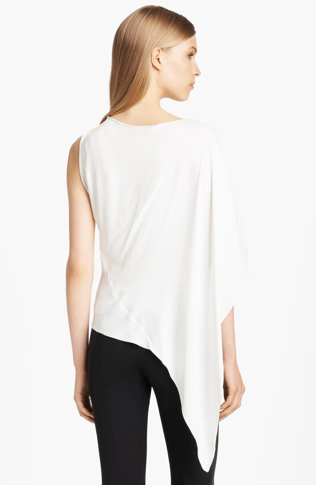 Alternate Image 4  - Donna Karan Collection Asymmetrical Matte Crepe Blouse