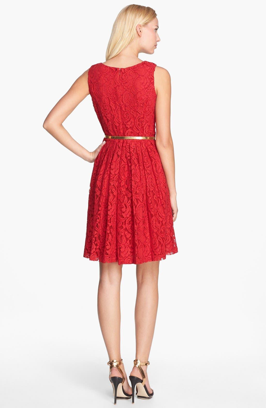 Alternate Image 2  - Ellen Tracy Lace Fit & Flare Dress (Regular & Petite)