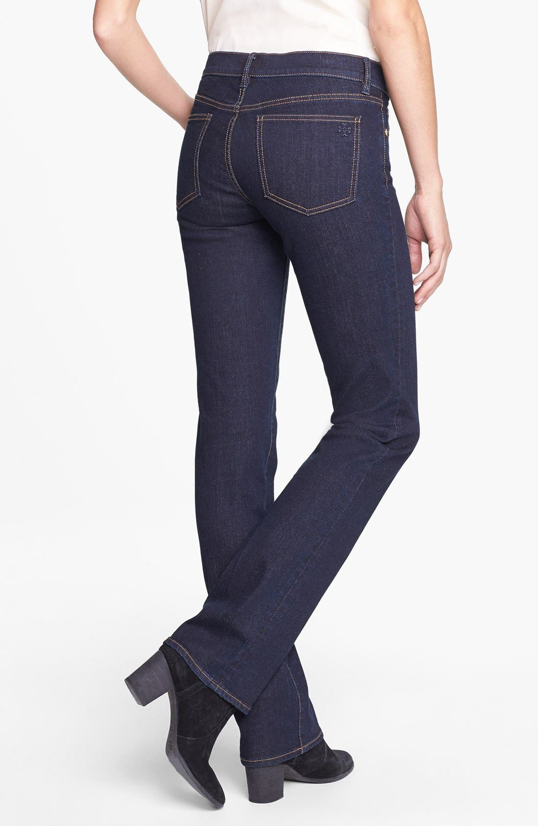 Alternate Image 2  - Tory Burch Stretch Straight Leg Jeans