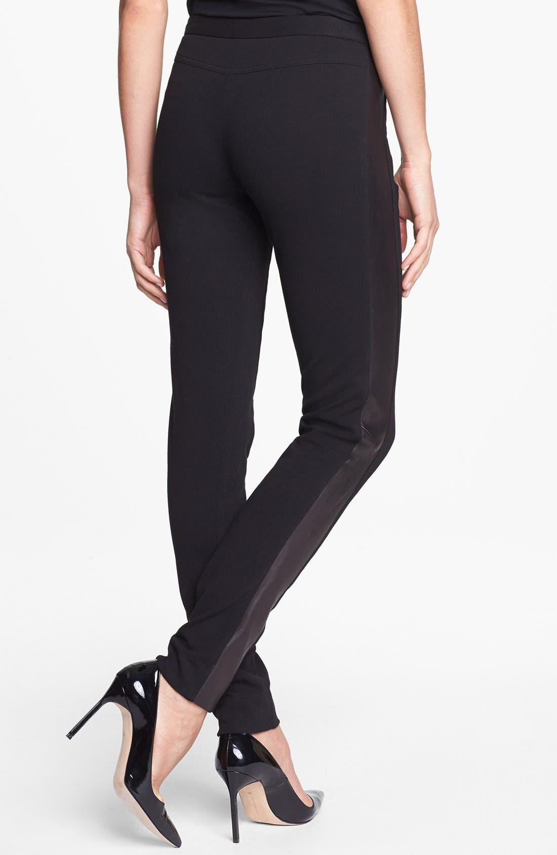 Alternate Image 2  - Diane von Furstenberg 'Leah' Leather & Pont Pants