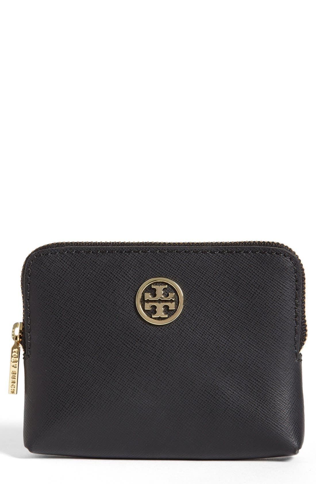 Main Image - Tory Burch 'Robinson' Saffiano Leather Coin Case