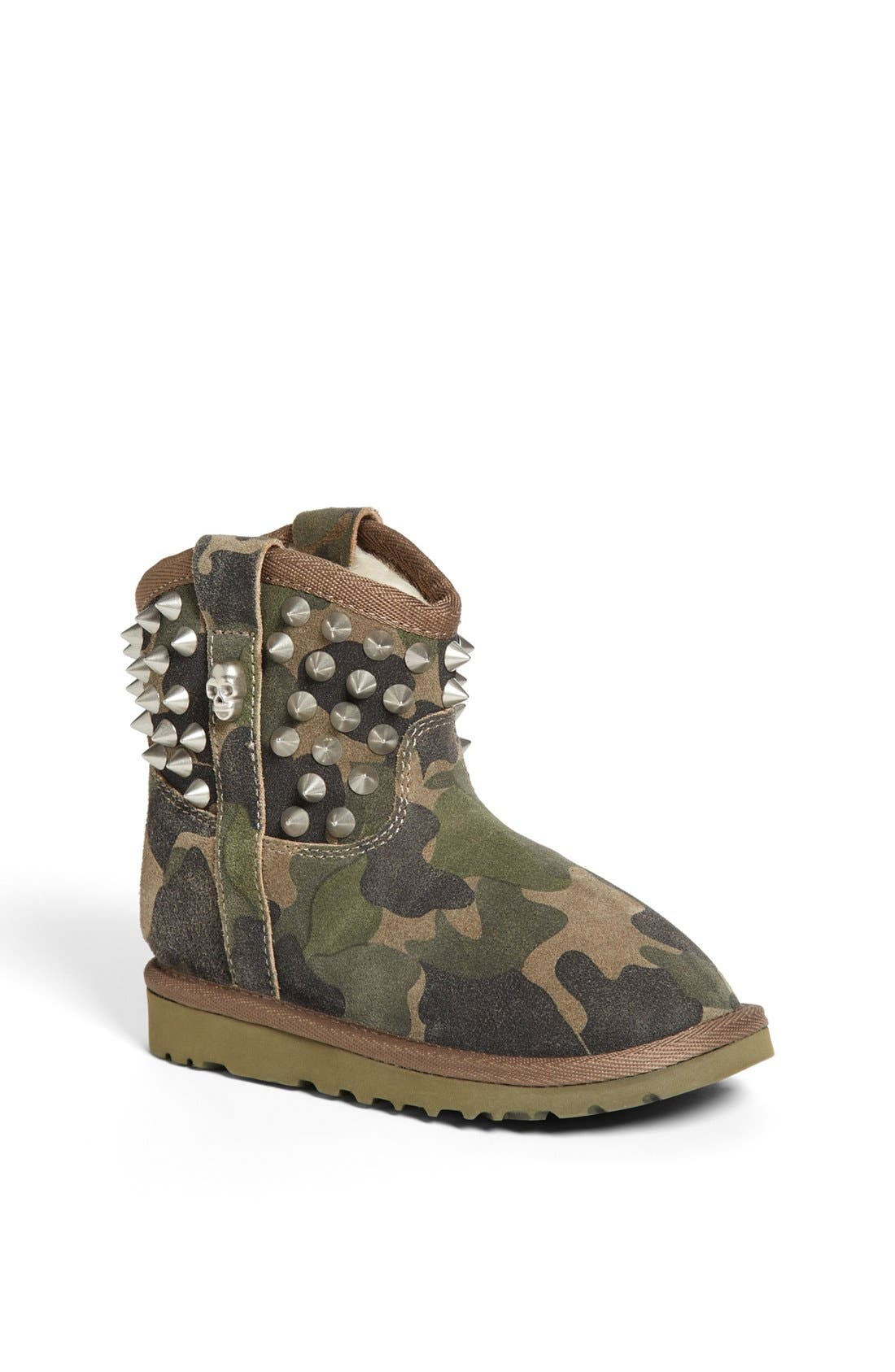 Alternate Image 1 Selected - Ash 'You' Studded Camo Boot (Toddler, Little Kid & Big Kid)