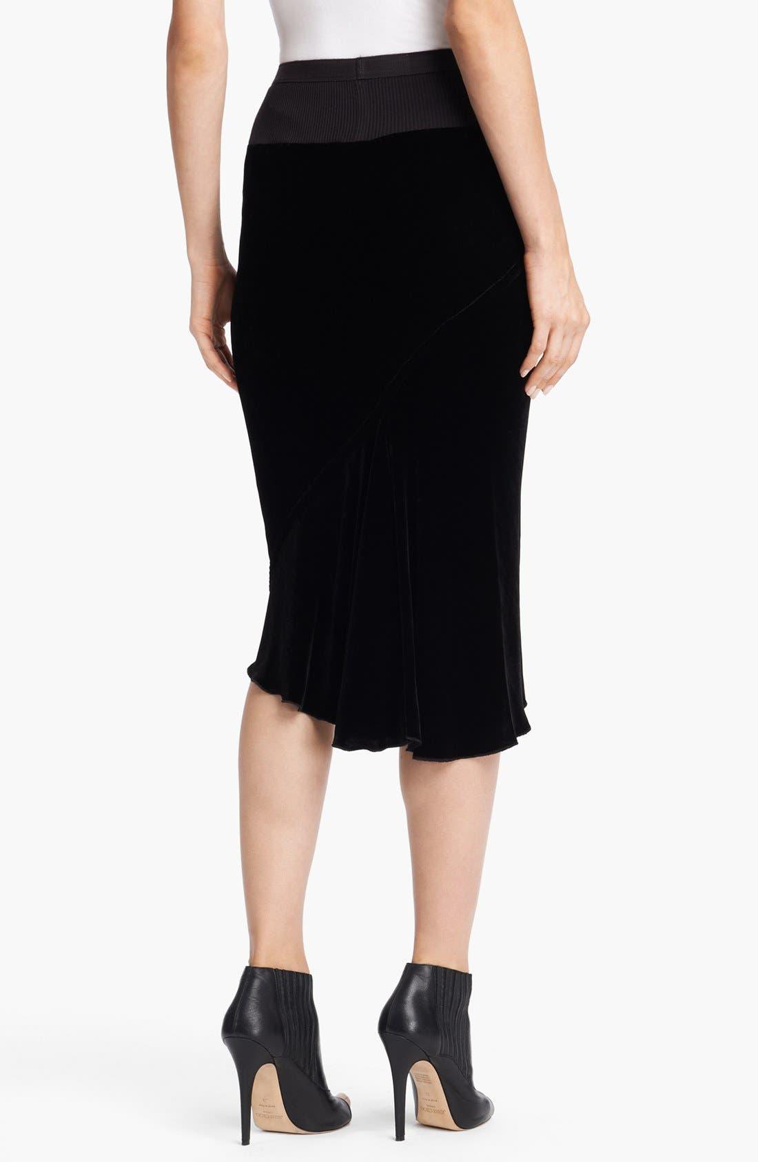 Alternate Image 2  - Rick Owens Velvet Skirt
