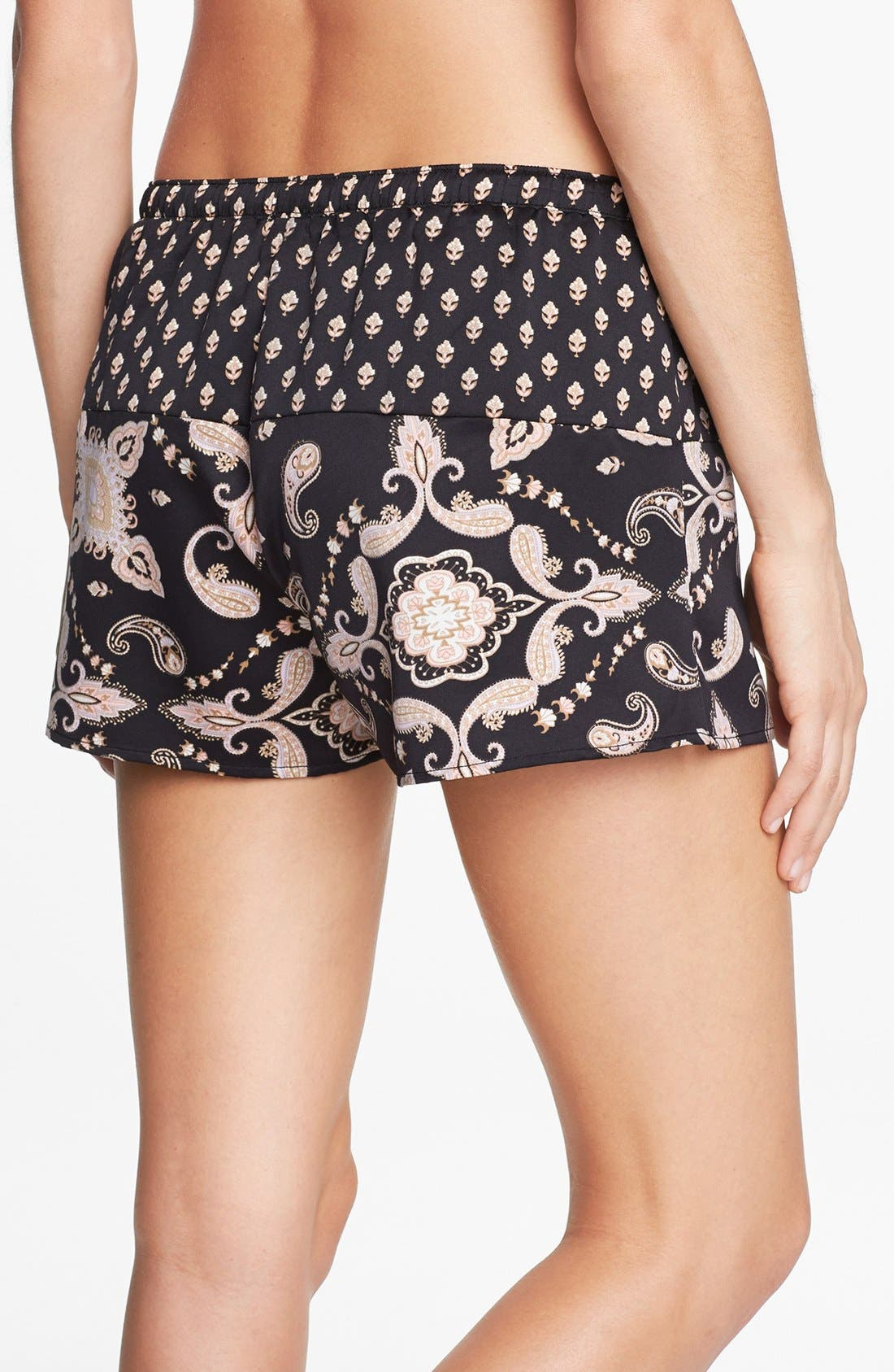 Alternate Image 2  - PJ Luxe 'Pieces of Paisley' Shorts