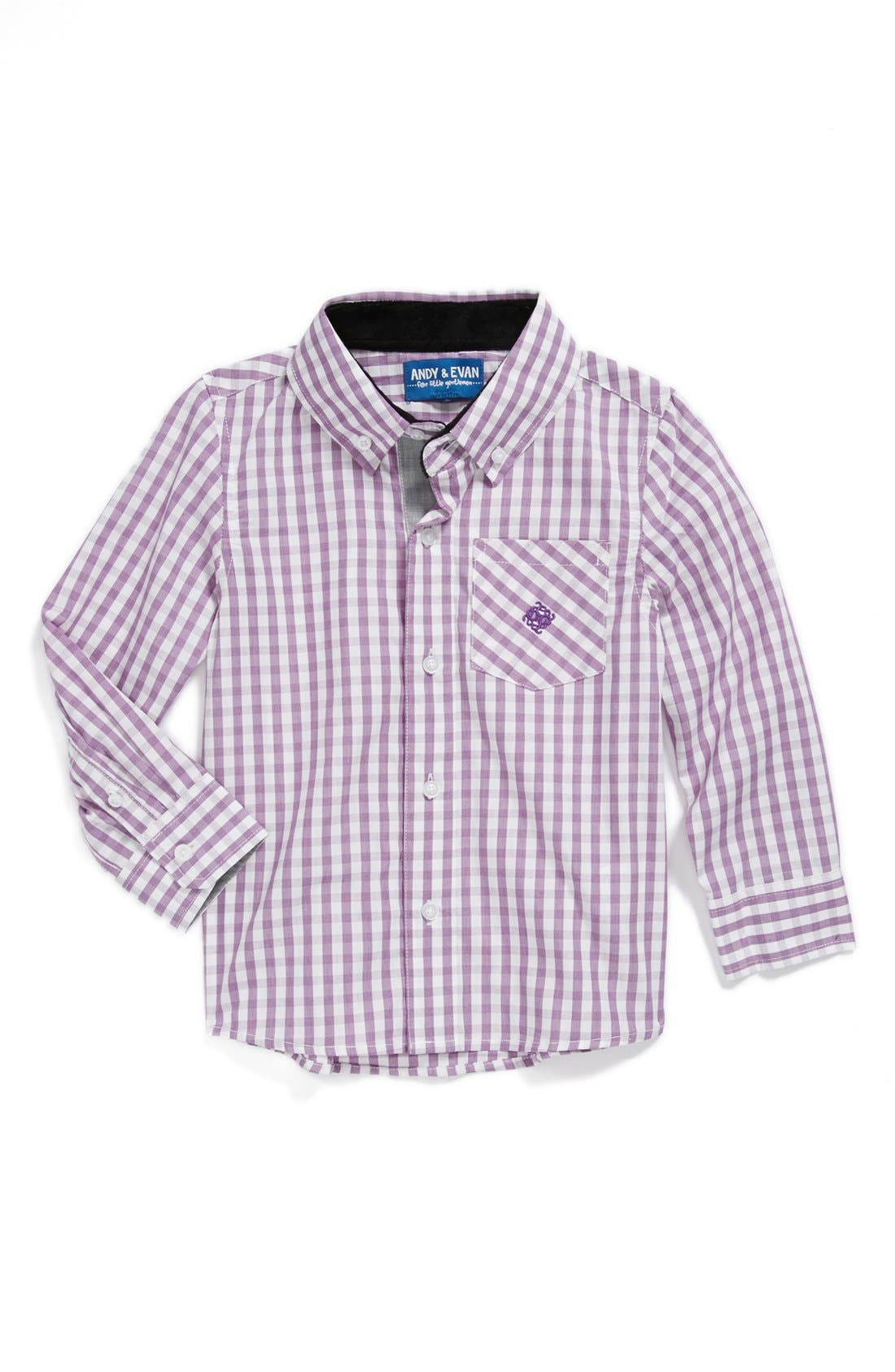 Alternate Image 1 Selected - Andy & Evan for little gentlemen Woven Sport Shirt (Toddler Boys)