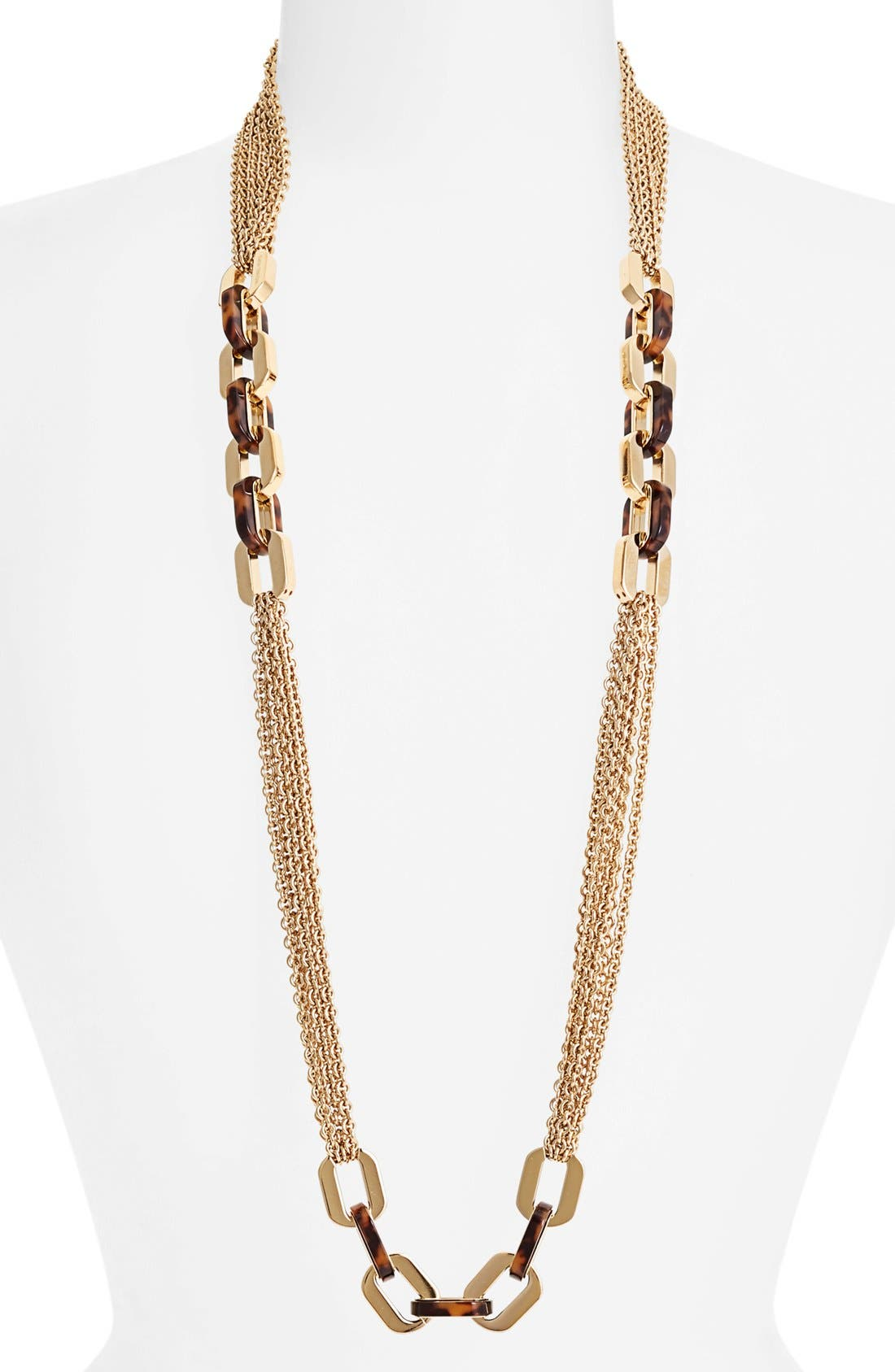 Alternate Image 1 Selected - Michael Kors 'Modernist Glitz' Long Multi Chain Necklace
