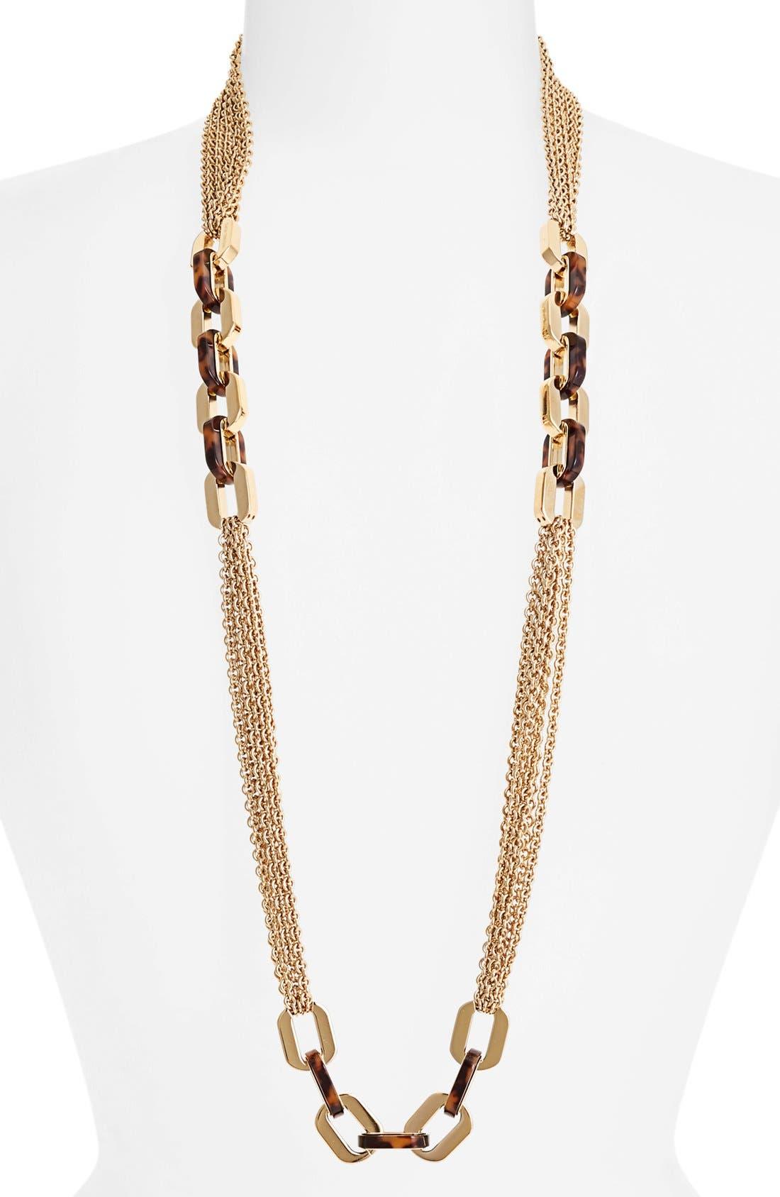 Main Image - Michael Kors 'Modernist Glitz' Long Multi Chain Necklace