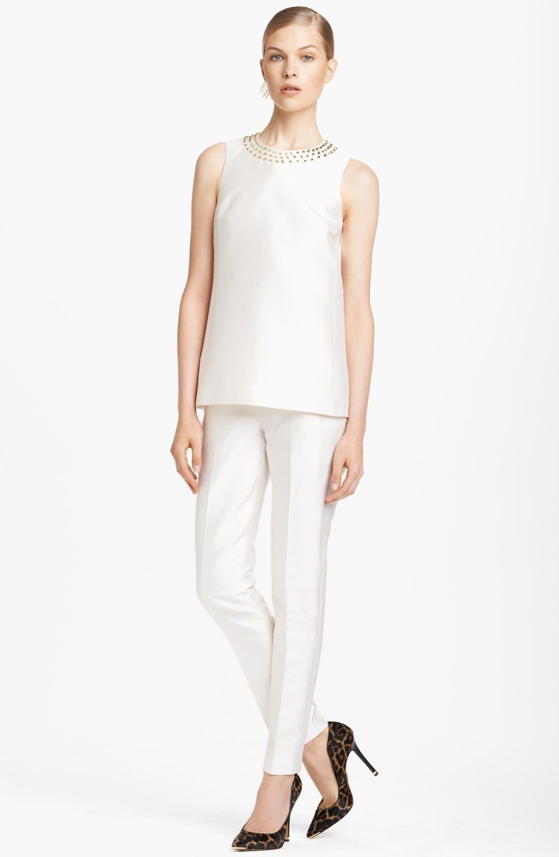Alternate Image 3  - Michael Kors Studded Silk & Wool Top