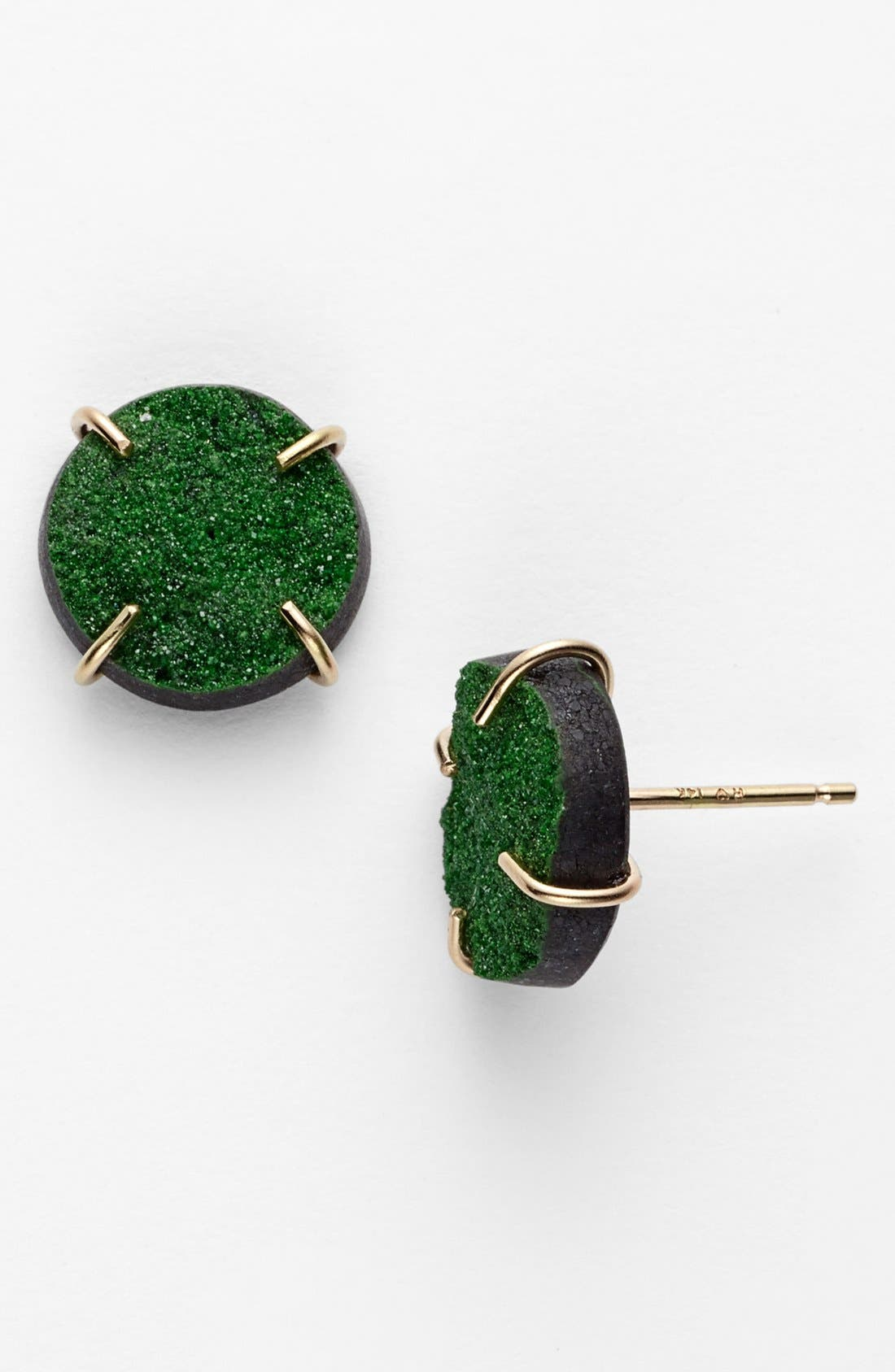 Alternate Image 1 Selected - Melissa Joy Manning Drusy Stud Earrings