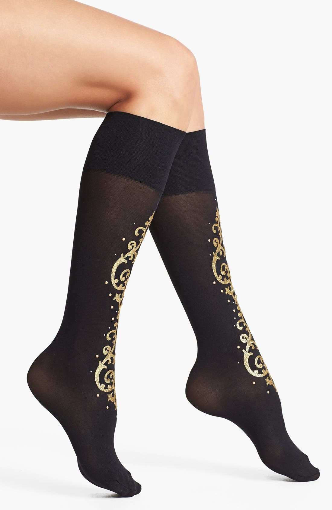 Alternate Image 1 Selected - Pretty Polly 'Baroque' Embellished Knee High Socks