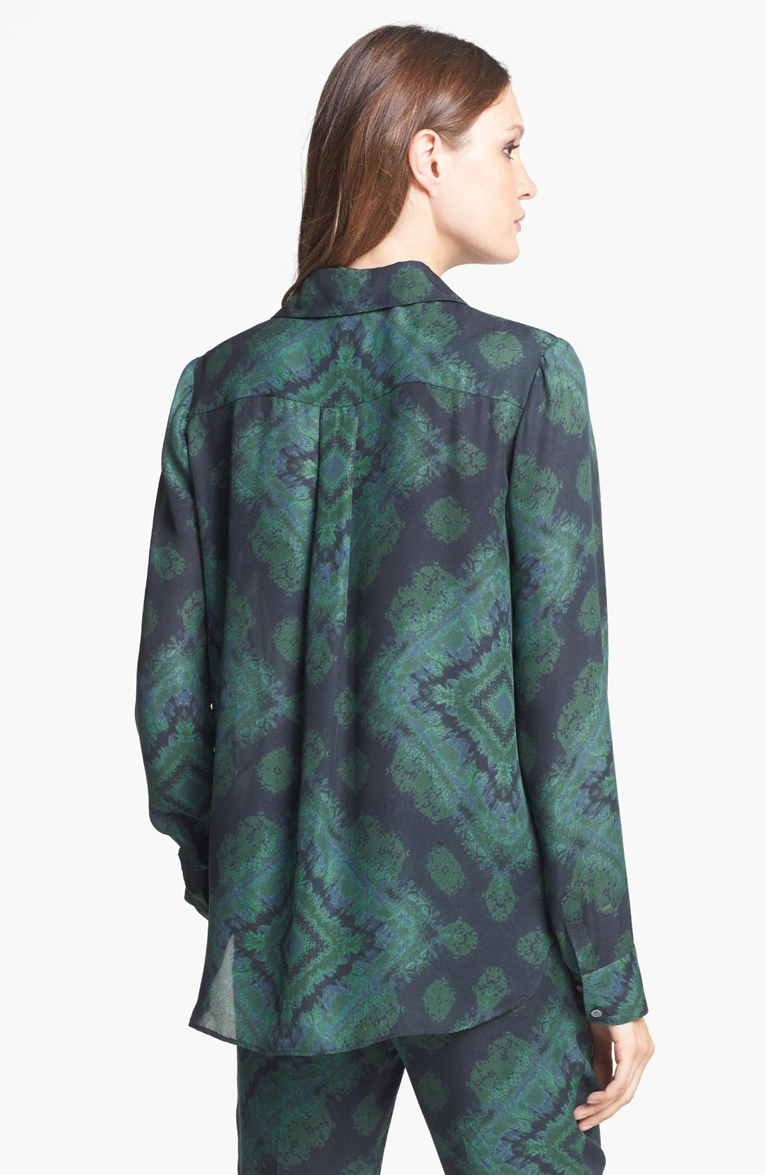 Alternate Image 5  - Haute Hippie Print Silk Blouse