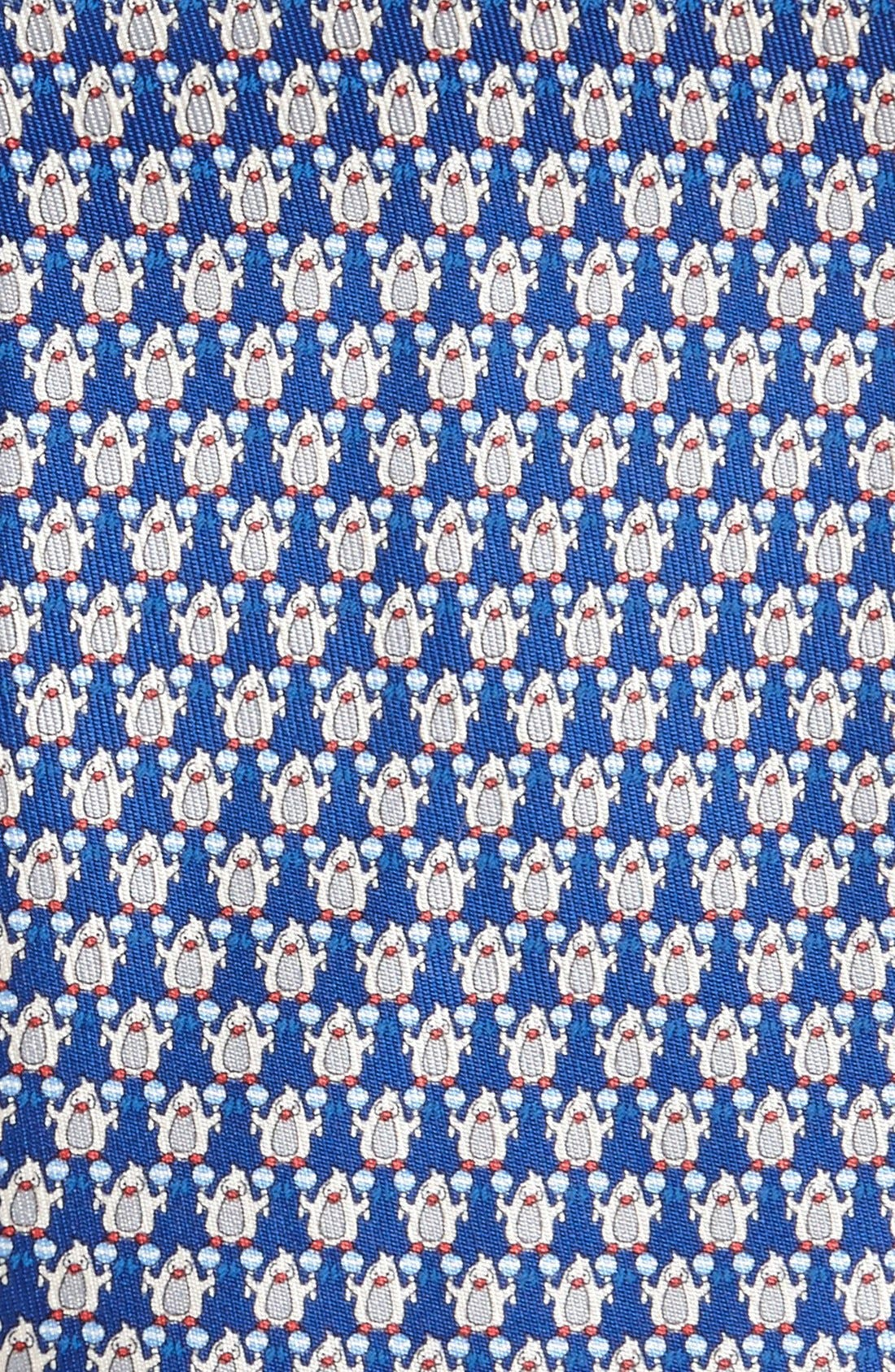 Alternate Image 2  - Salvatore Ferragamo Penguin Print Silk Tie