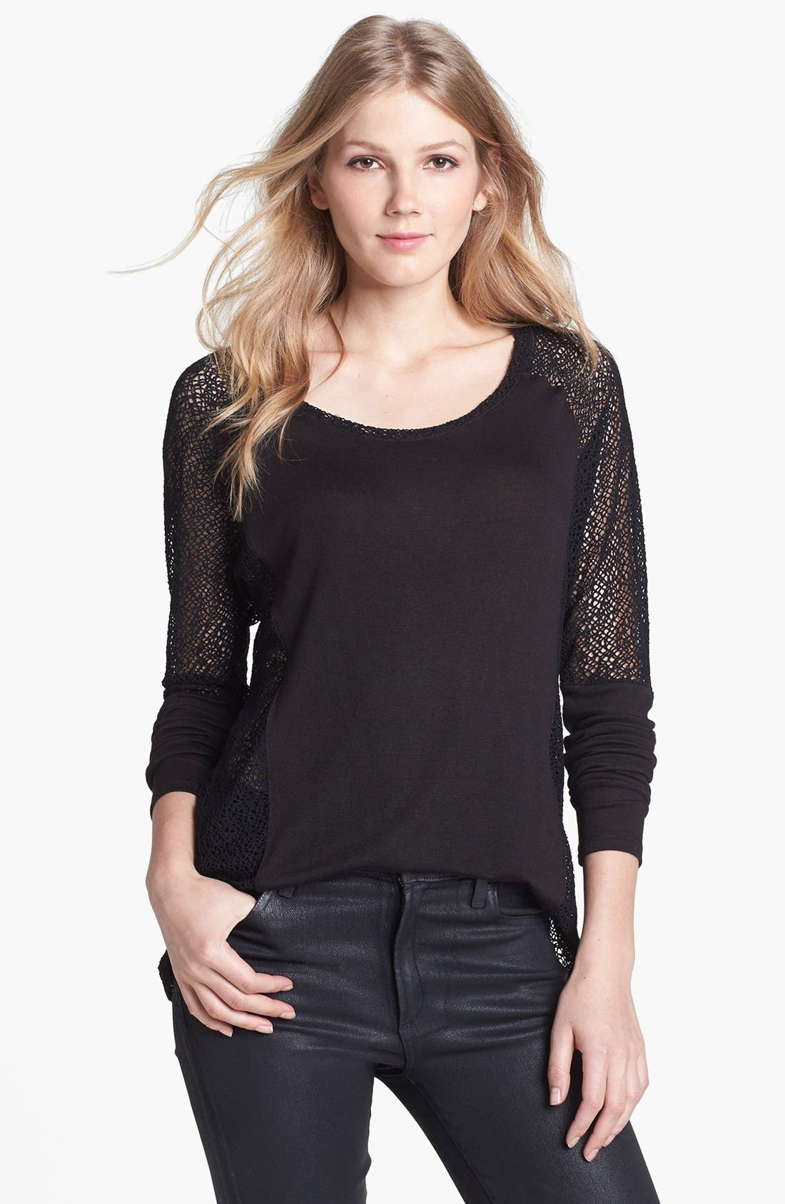 Alternate Image 1 Selected - Three Dots Lace Sleeve Top