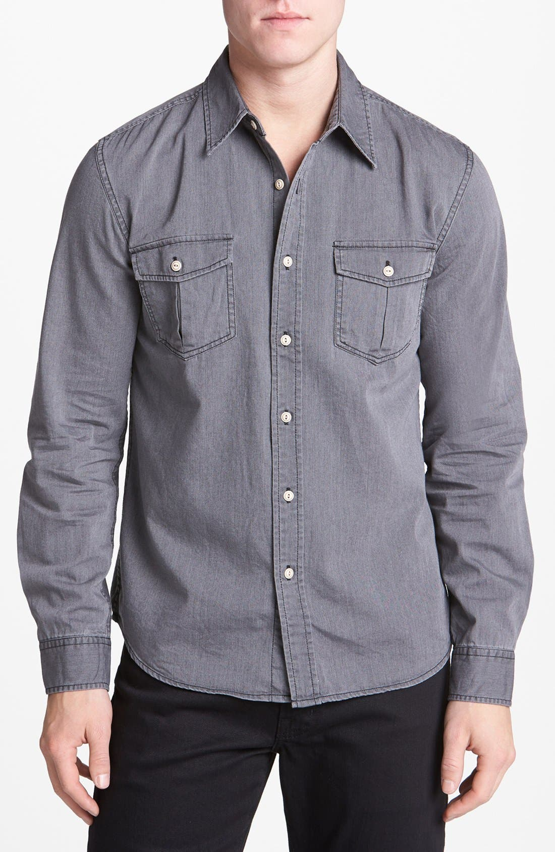 Alternate Image 1 Selected - AG Slim Fit Chambray Surplus Sport Shirt