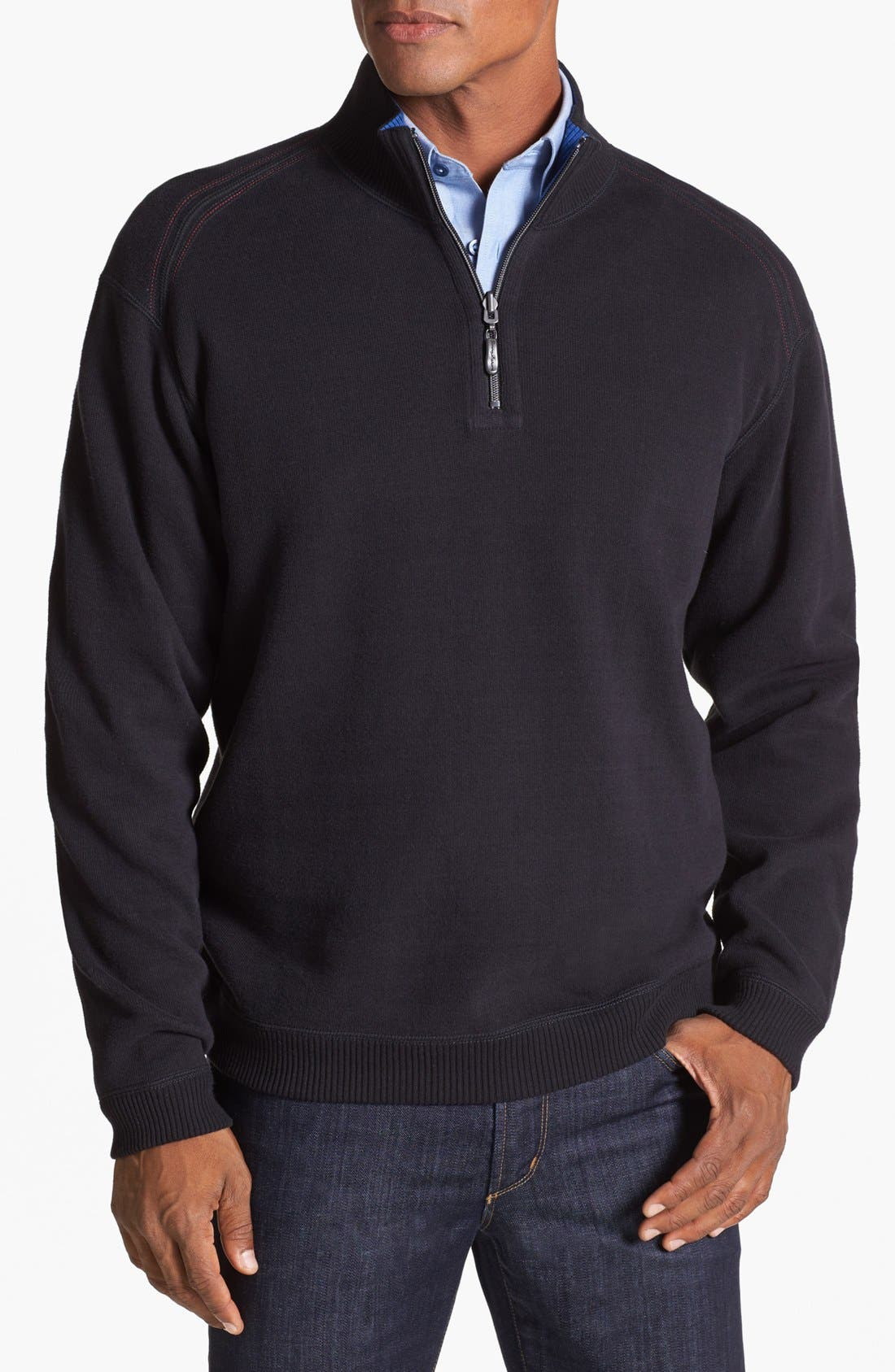 Main Image - Tommy Bahama 'Flip Side Pro' Half Zip Pullover (Big & Tall)