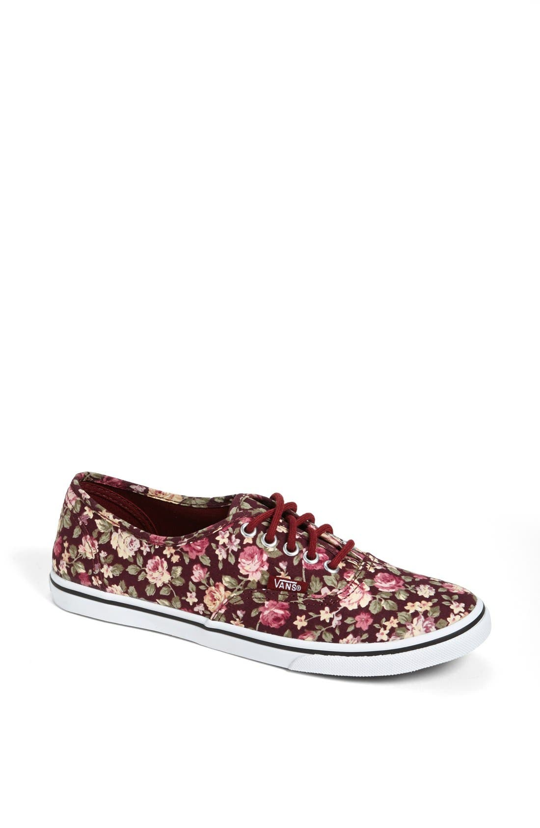 Alternate Image 1 Selected - Vans 'Authentic Lo Pro - Floral' Sneaker (Women)