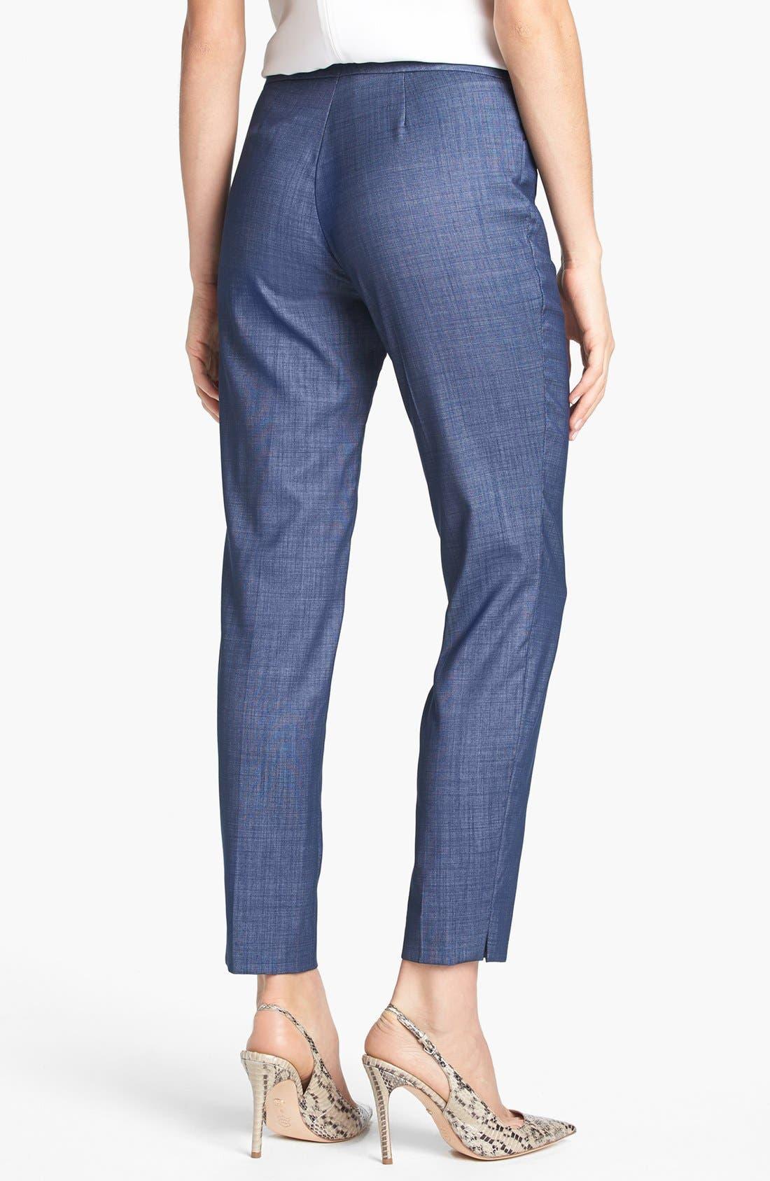 Alternate Image 2  - Lafayette 148 New York 'Irving - Regent Suiting' Pants