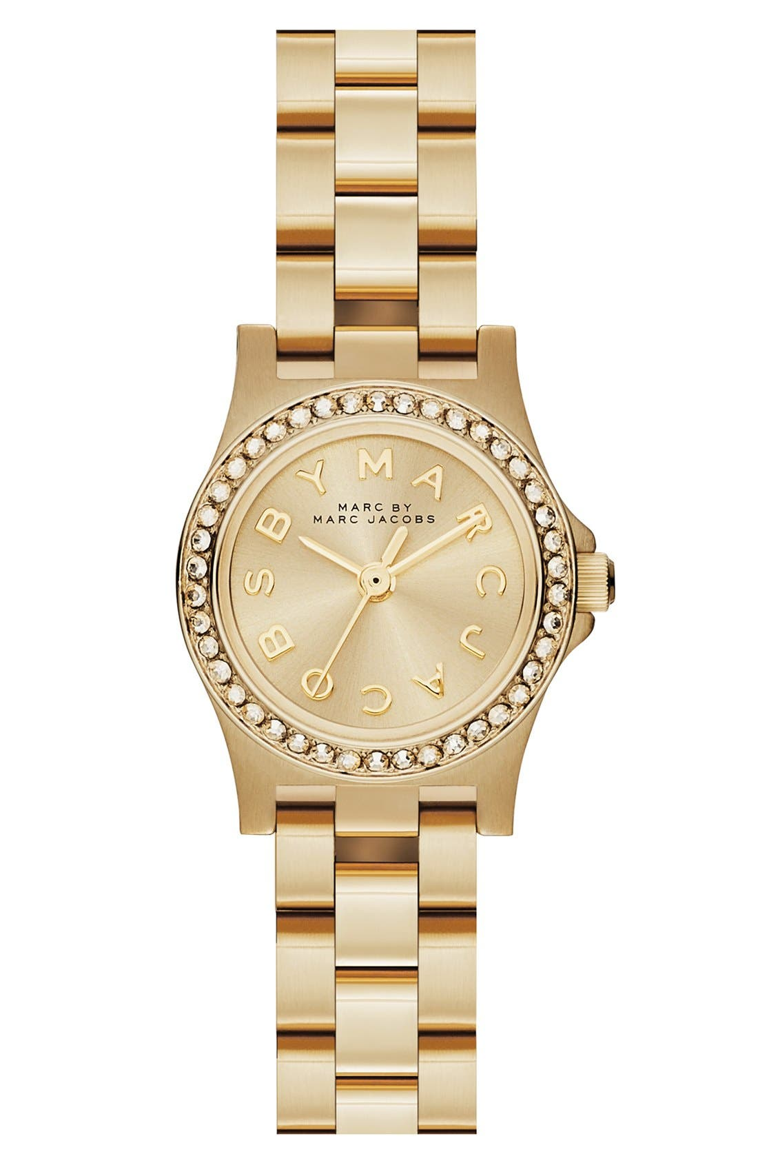 Alternate Image 1 Selected - MARC JACOBS 'Henry Dinky' Crystal Bracelet Watch, 21mm