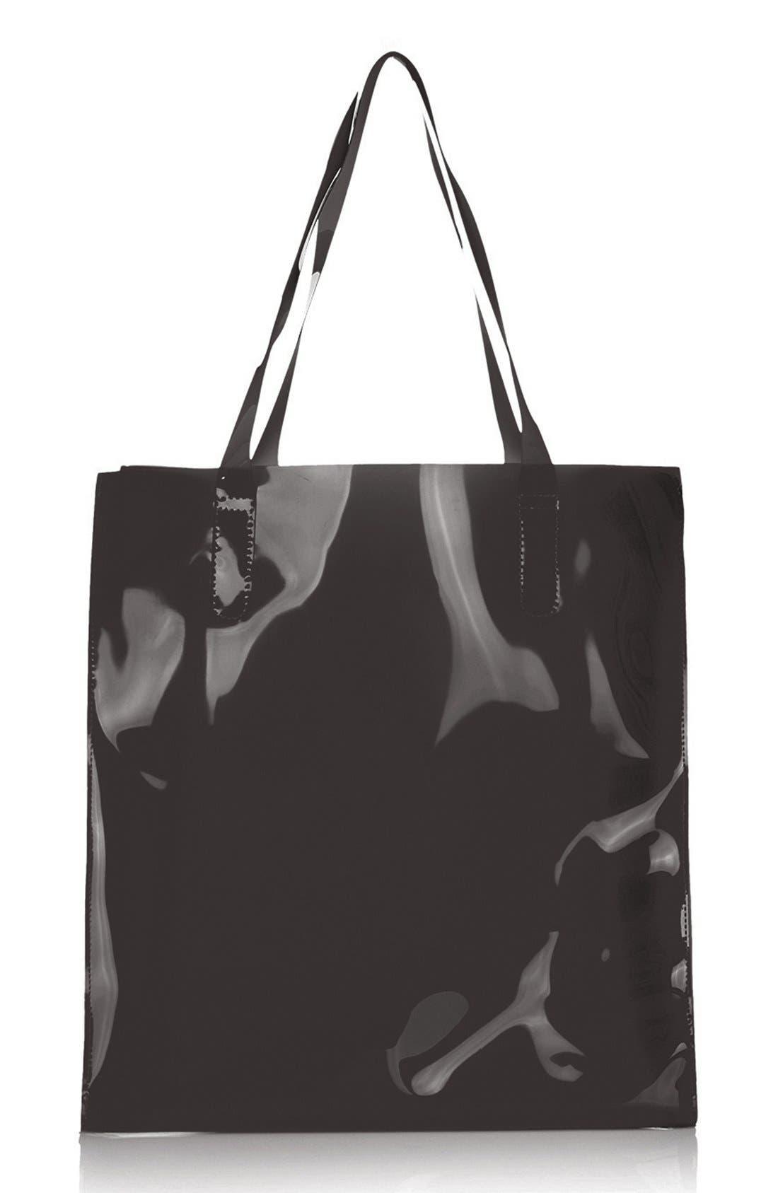 Main Image - Topshop Sheer 'Ghost' Shopper