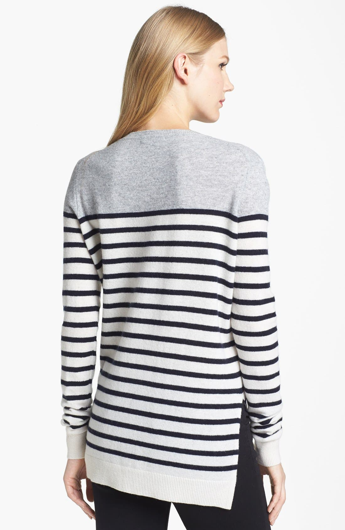 Alternate Image 2  - Vince Colorblock Breton Stripe Cashmere Sweater