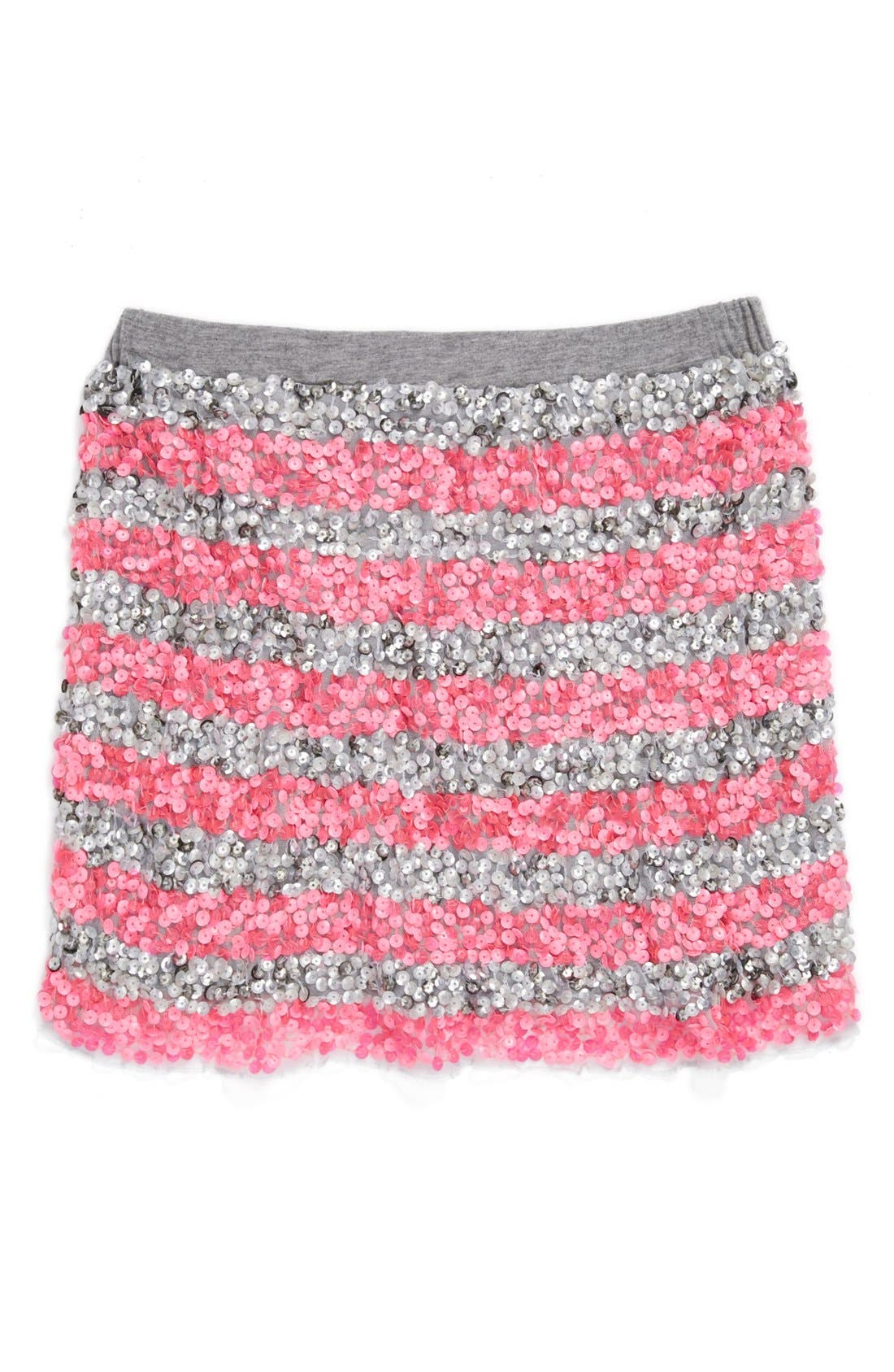 Alternate Image 1 Selected - Peek 'Zoe' Sequin Skirt (Toddler Girls, Little Girls & Big Girls)