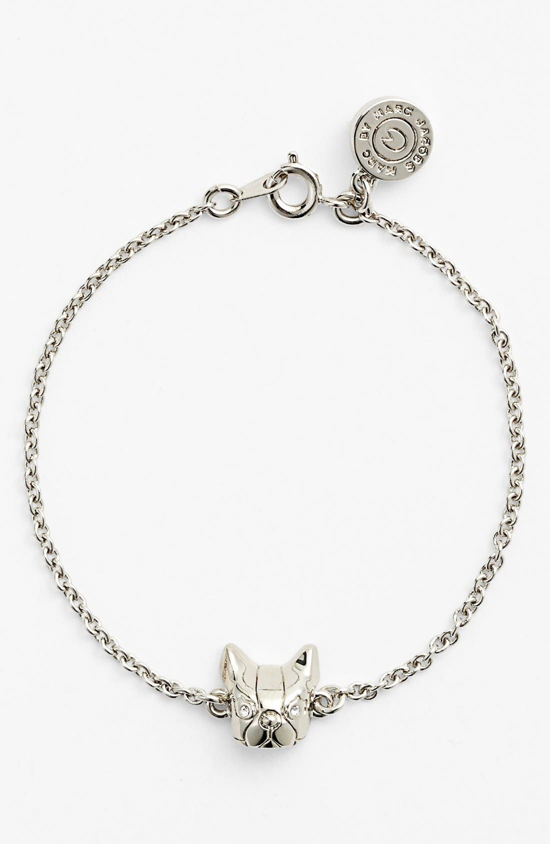 Alternate Image 1 Selected - MARC BY MARC JACOBS 'Dynamite - Olive' Dog Line Bracelet