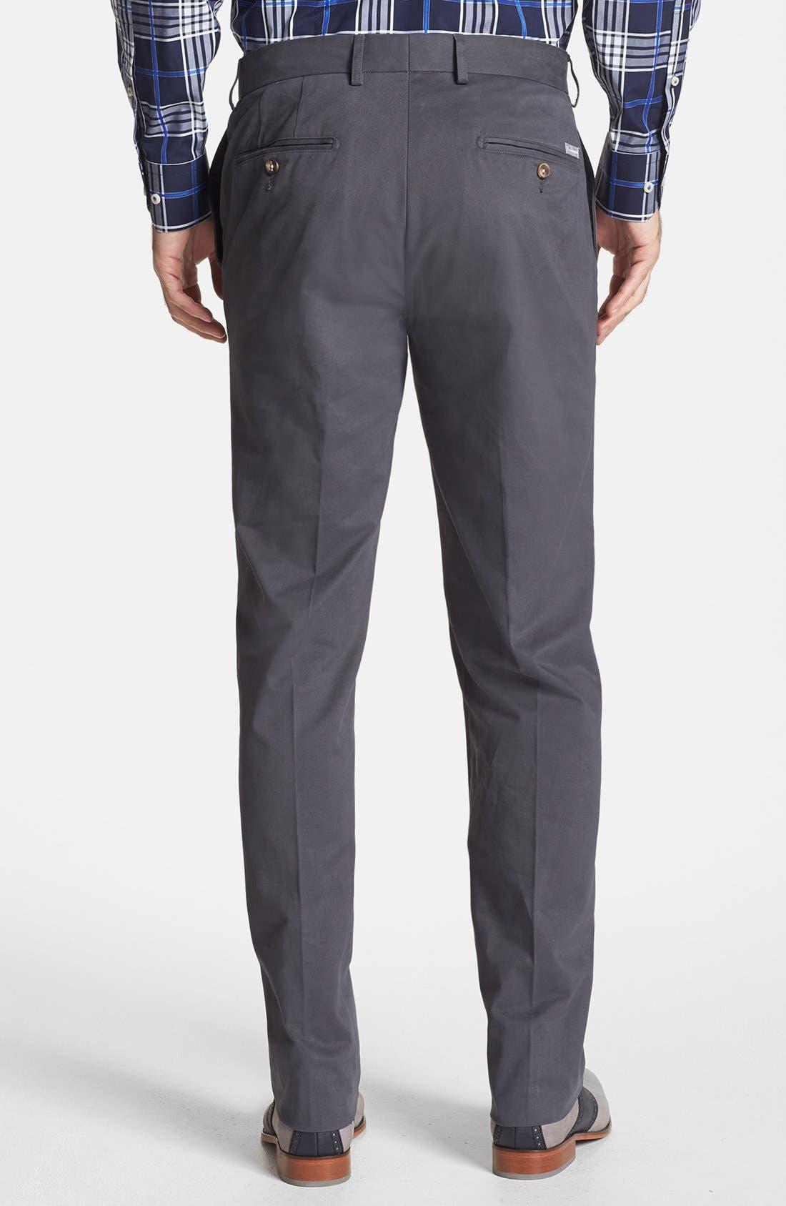 Alternate Image 2  - Façonnable 'Savon' Flat Front Cotton Pants