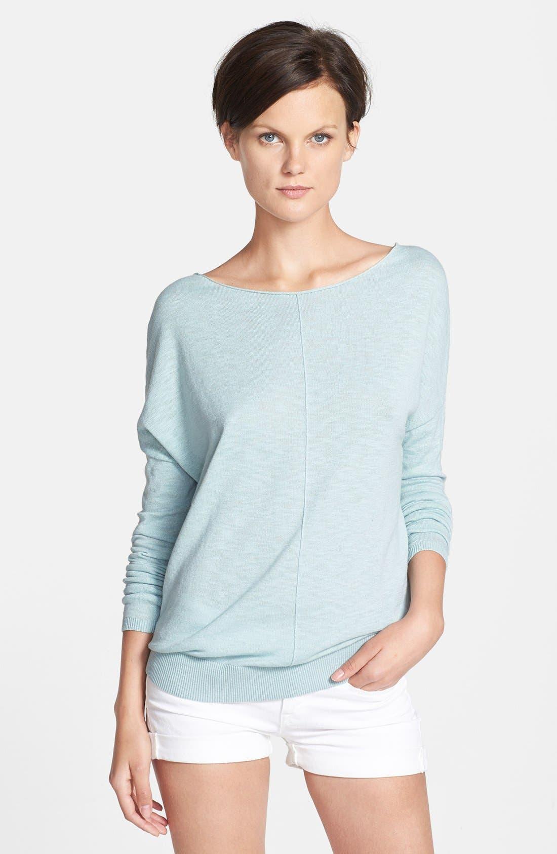 Alternate Image 1 Selected - Vince Boatneck Slub Cotton Sweater