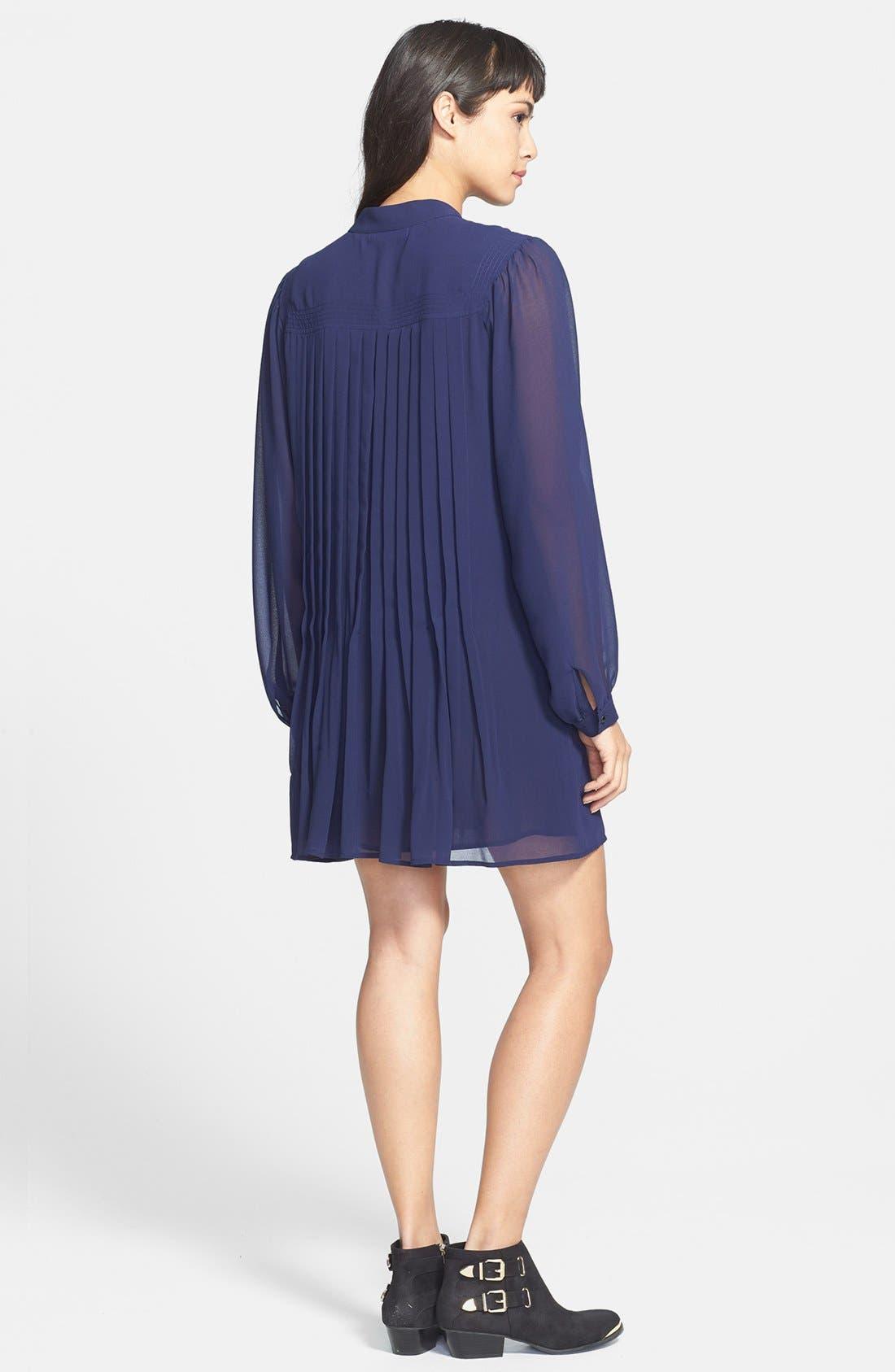 Alternate Image 2  - Sanctuary Pintuck Pleat Mini Shirtdress