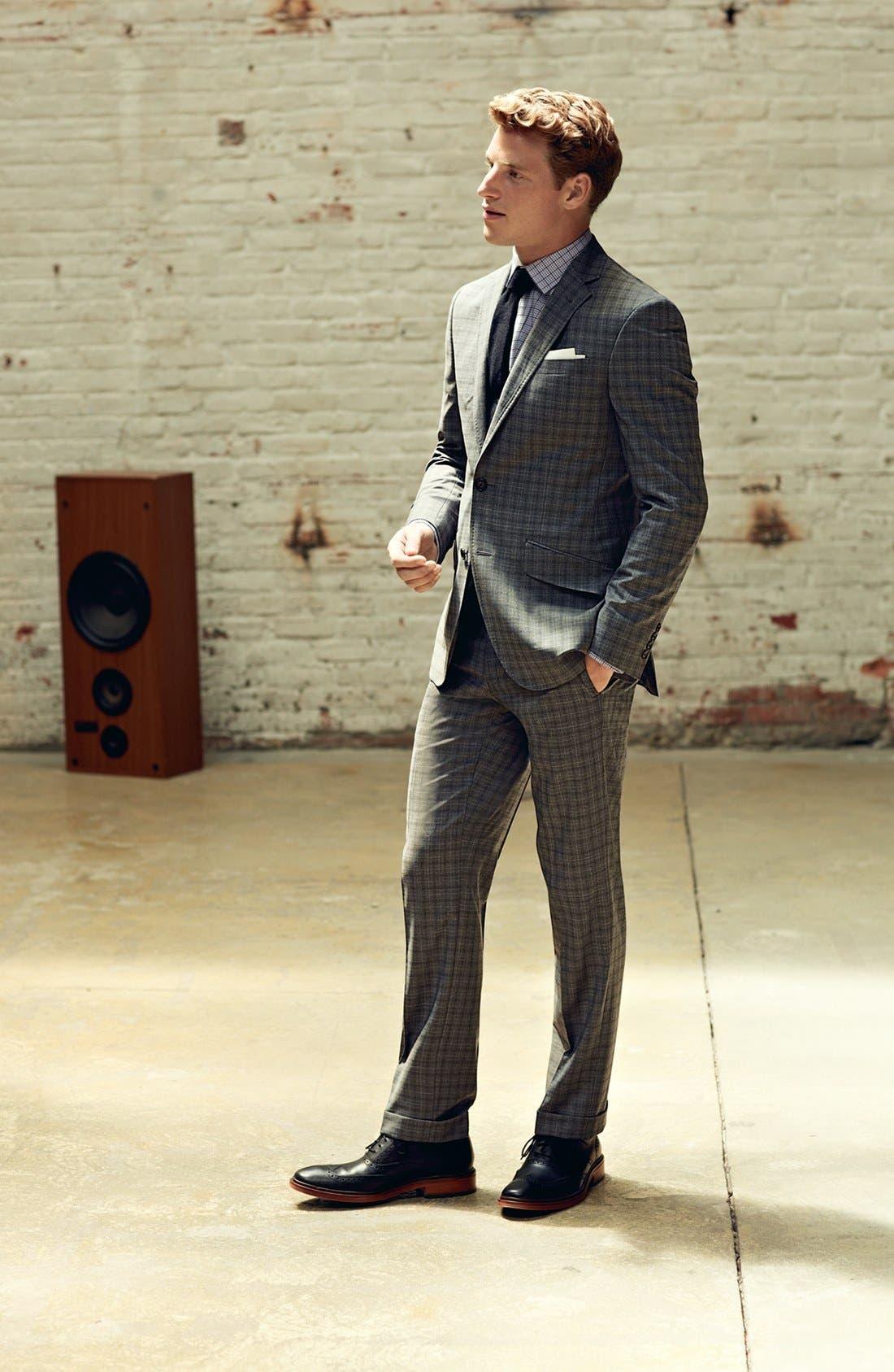 Alternate Image 6  - Ted Baker London 'Jones' Trim Fit Check Suit