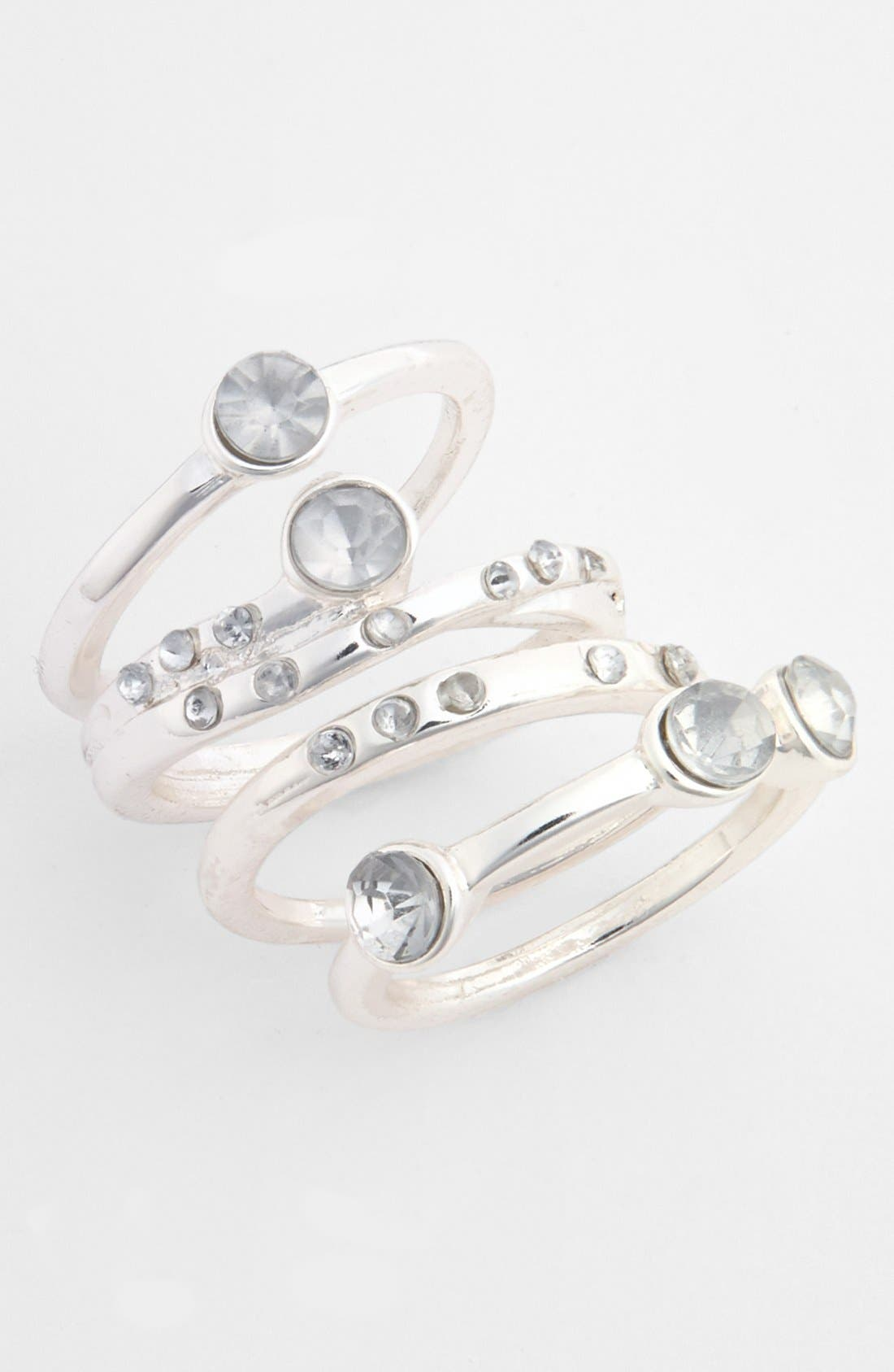 Main Image - Carole 'Diamond' Stackable Rings (Set of 4) (Juniors)