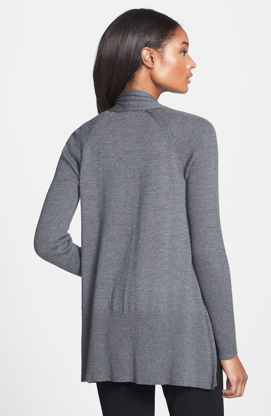 Alternate Image 2  - Eileen Fisher Raglan Sleeve Merino Wool Cardigan (Regular & Petite)